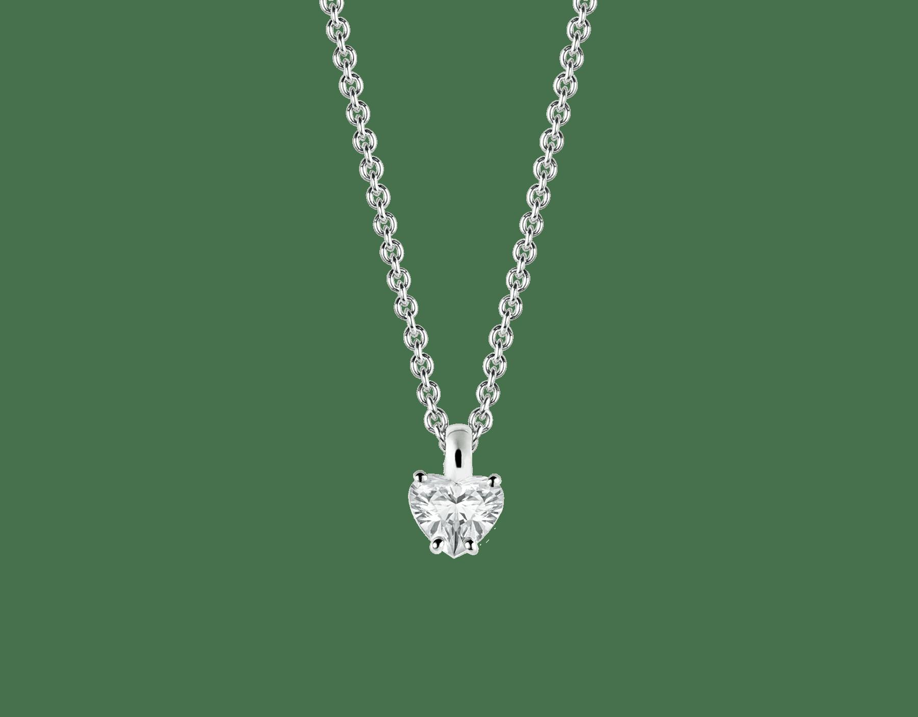 Griffe 18K 白金項墜鑲飾心形切割鑽石,18K 白金鍊帶。 338204 image 1