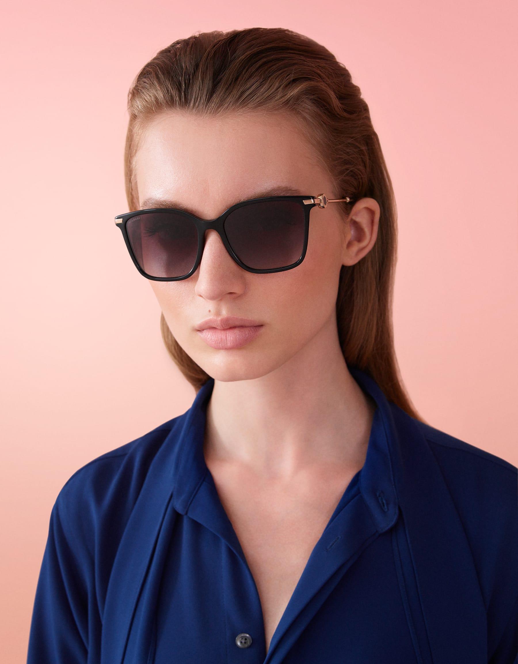 BVLGARI BVLGARI squared acetate sunglasses with metal décor. 903827 image 3