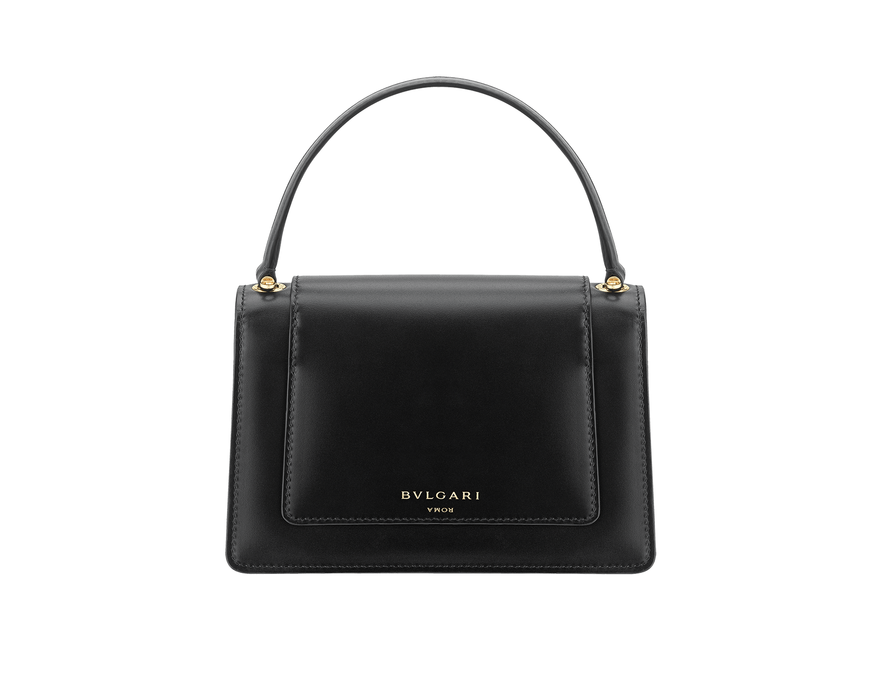 Alexander Wang x Bvlgari belt bag in smooth black calf leather. New double Serpenti head closure in antique gold plated brass with tempting red enamel eyes. Limited edition. 288737 image 3