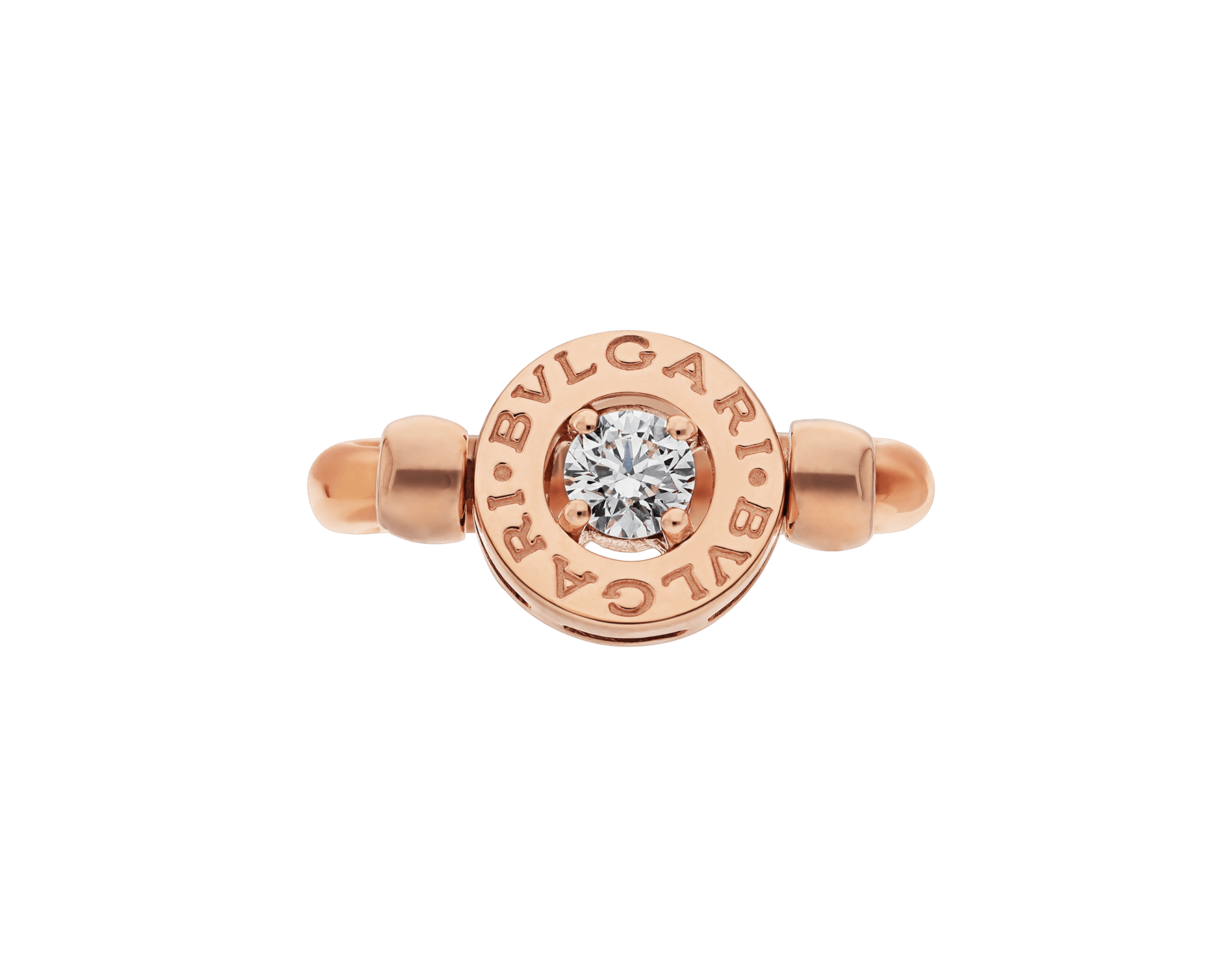 Anillo BVLGARI BVLGARI reversible en oro rosa de 18 qt con un diamante. AN853336 image 2