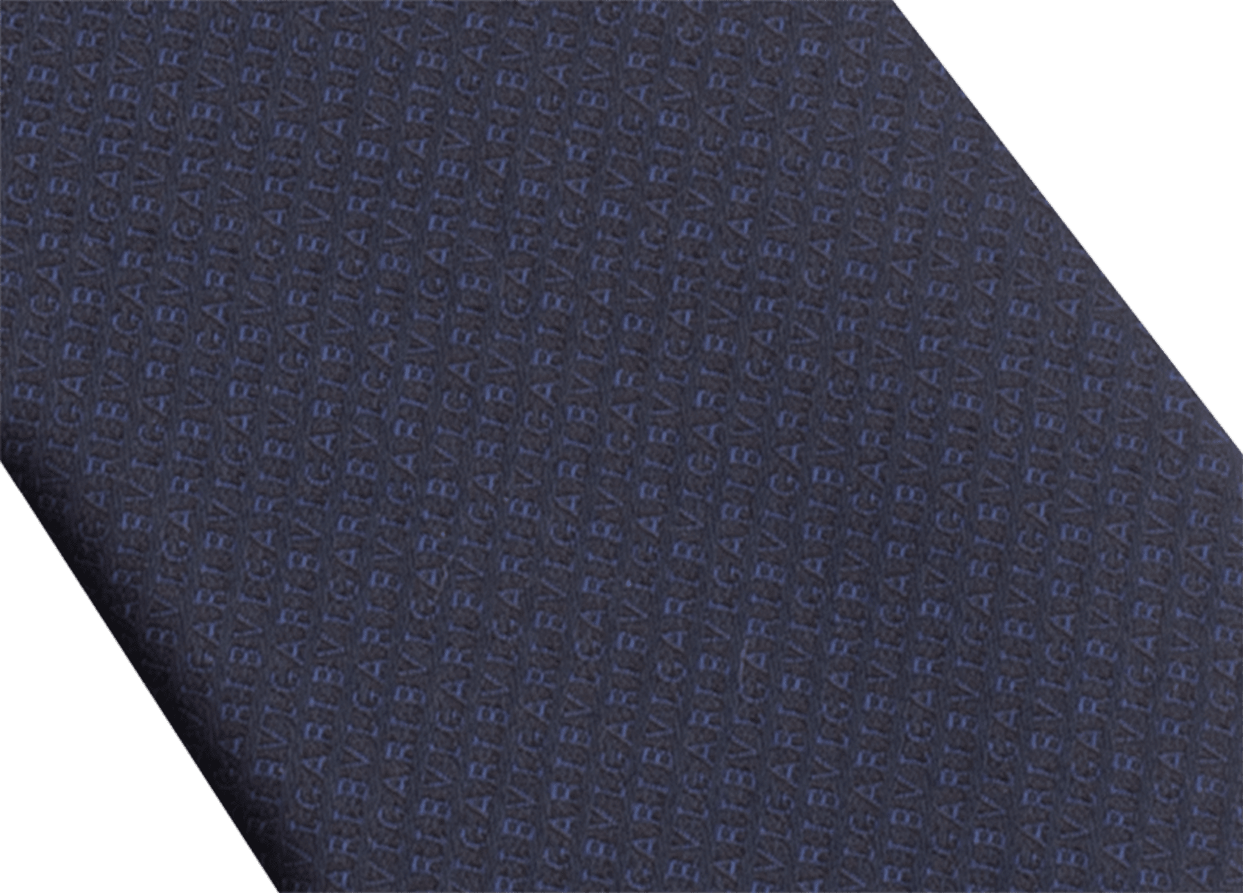 Cravatta sette pieghe blu con motivo Small Colours in pregiata seta jacquard. SmallColours image 2
