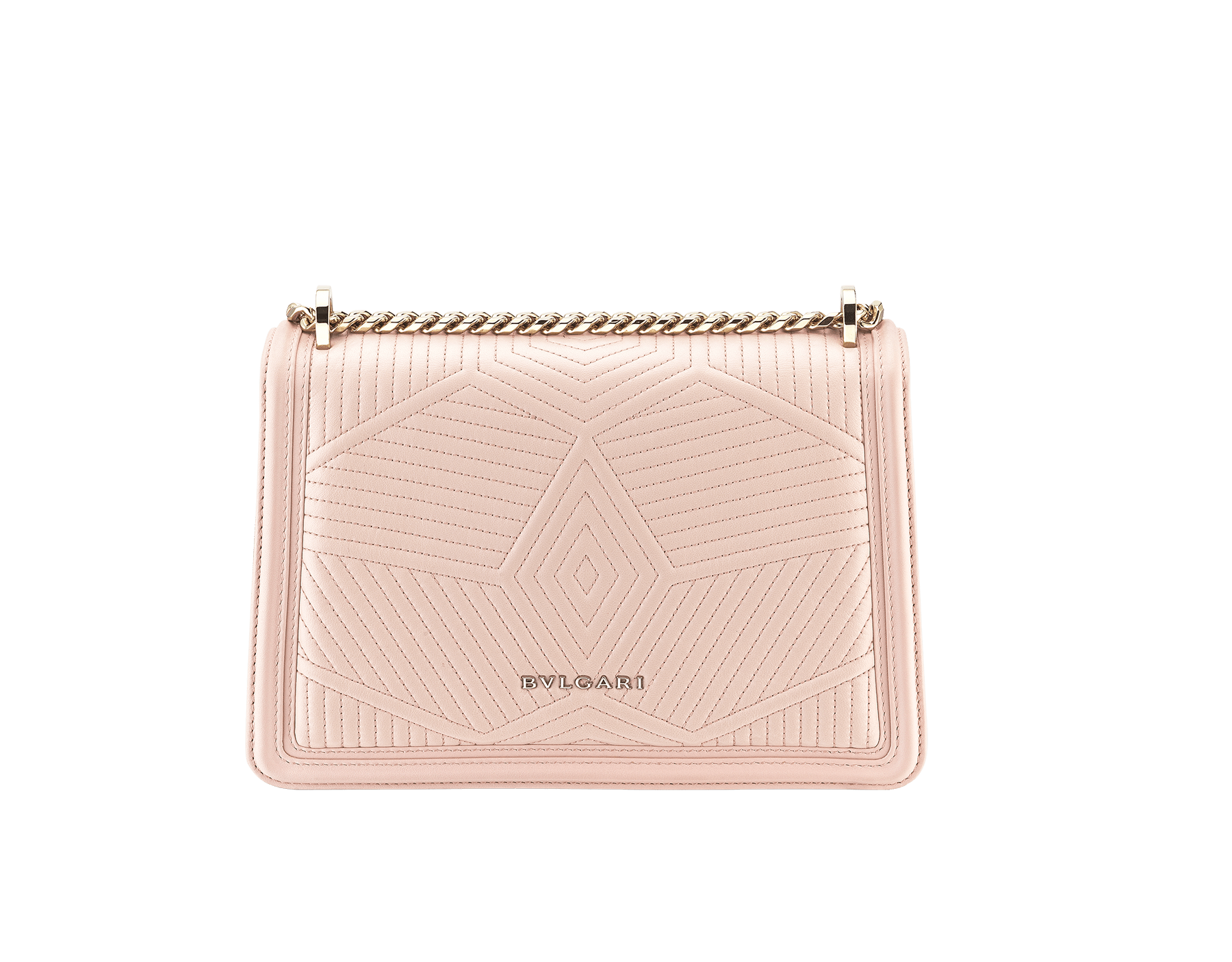 """Serpenti Diamond Blast"" shoulder bag in crystal rose quilted nappa leather body and crystal rose calf leather frames. Iconic snakehead closure in light gold plated brass enriched with black and crystal rose enamel and black onyx eyes 287331 image 4"