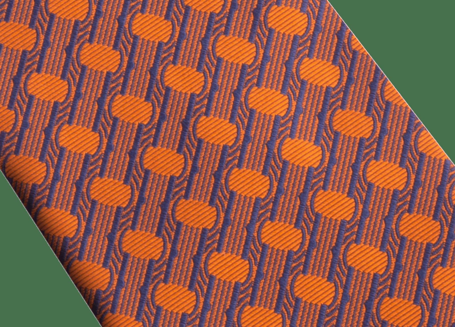 Saffron B.zero1 pattern seven-folds tie in fine silk. 243683 image 3
