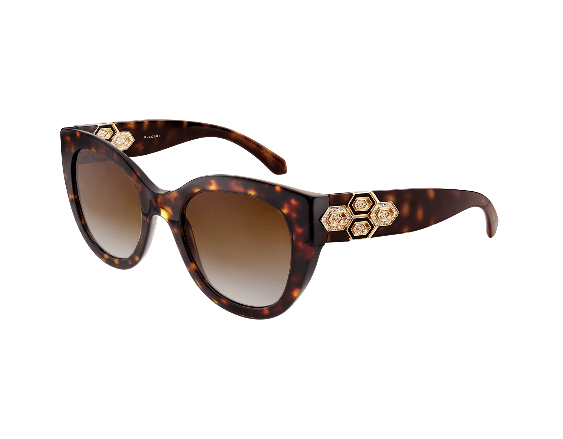 Bvlgari Serpenti squared bold acetate sunglasses with Serpenti metal décor and crystals. 903742 image 1