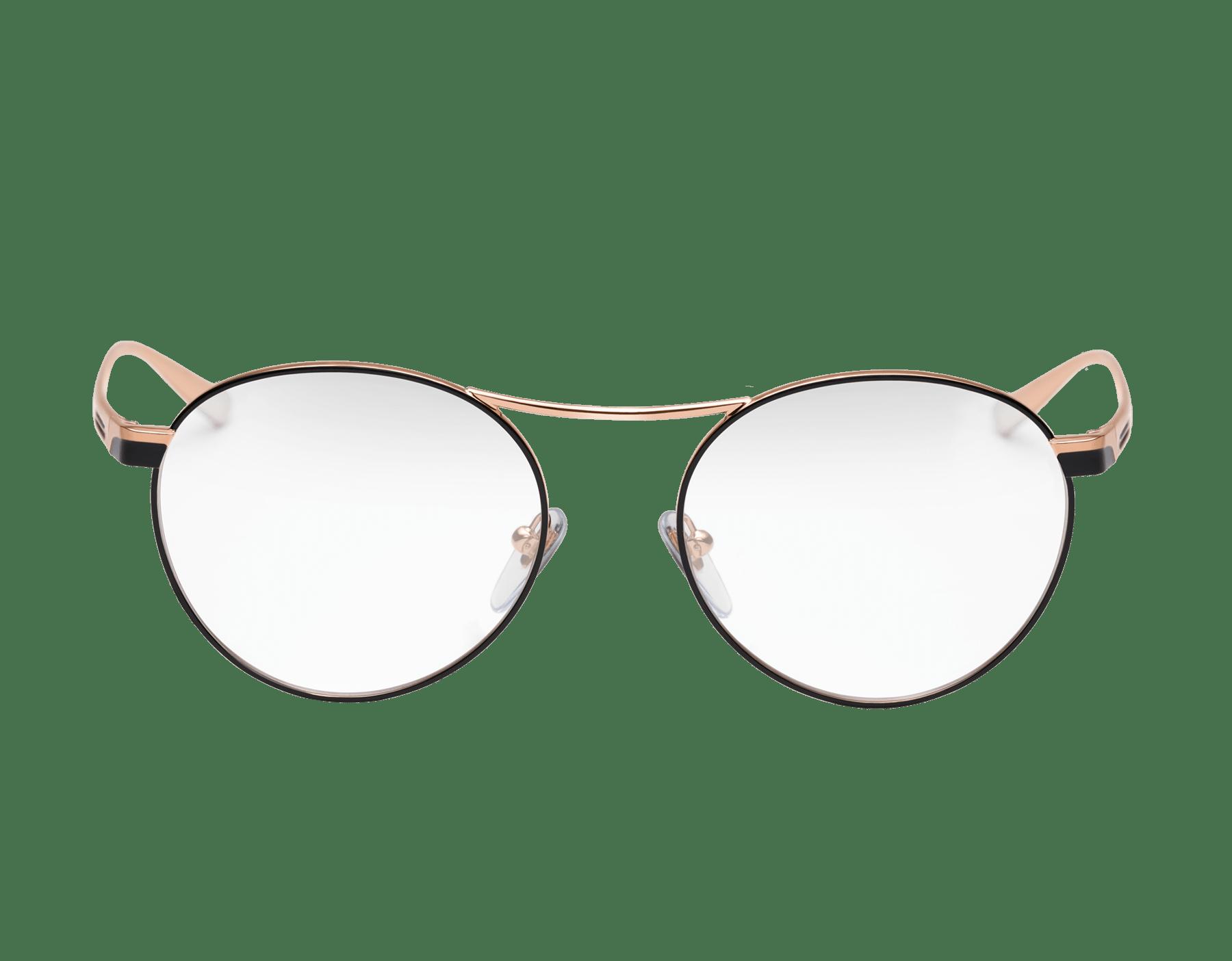 Bulgari B.zero1 B.glassy: occhiali da vista in metallo dalla forma arrotondata. 903758 image 2