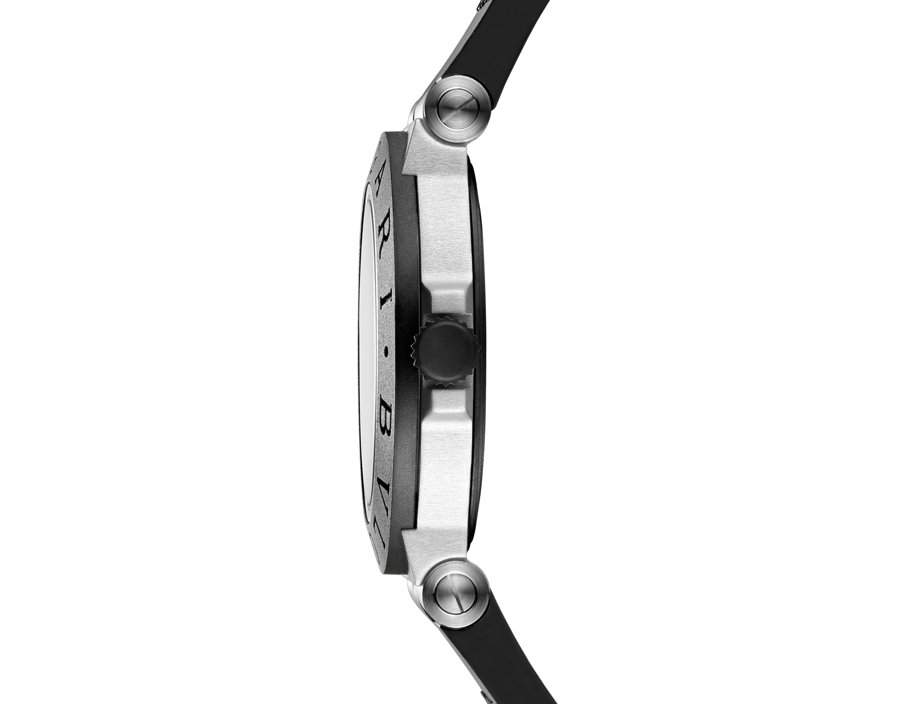 Bvlgari Aluminium watch with mechanical manufacture movement, automatic winding, 40 mm aluminium and titanium case, black rubber bezel with BVLGARI BVLGARI engraving, black dial and black rubber bracelet. Water resistant up to 100 metres 103445 image 3