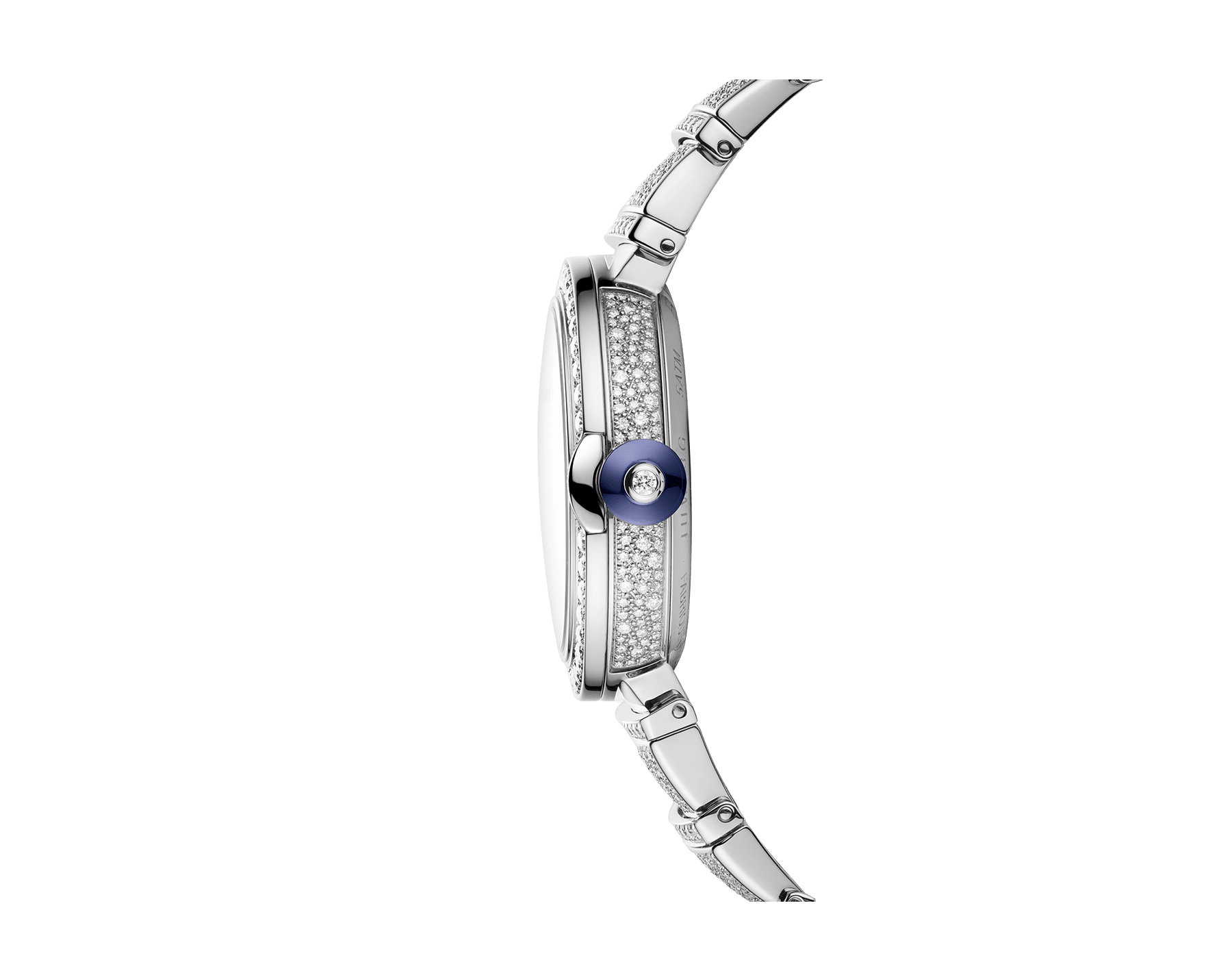 LVCEA watch in 18 kt white gold with brilliant-cut diamond set case and bracelet, and full pavé diamond dial. 102365 image 3