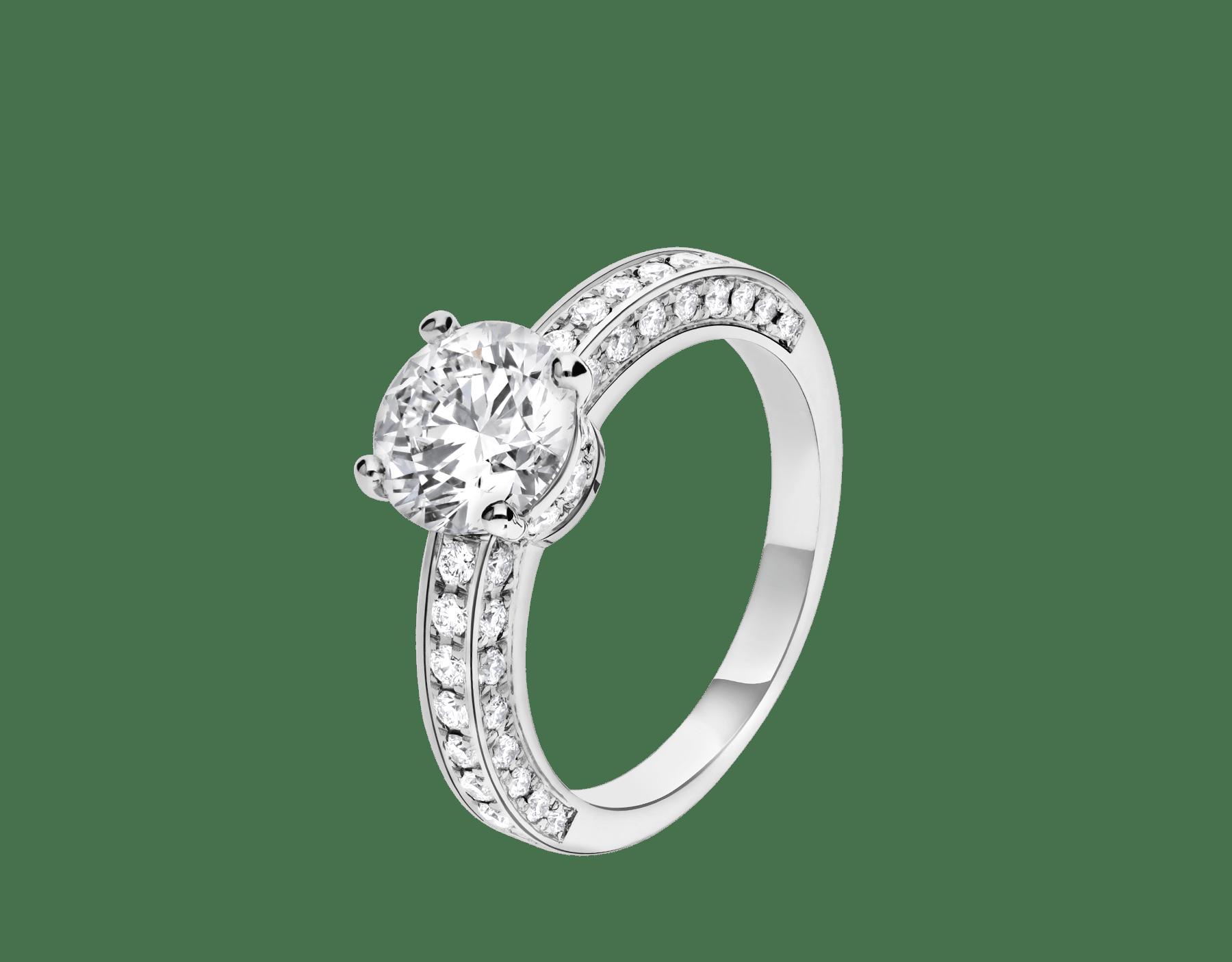 Dedicata a Venezia: solitaire1503 en platine serti d'un diamant rond taille brillant et pavé diamants 343367 image 1