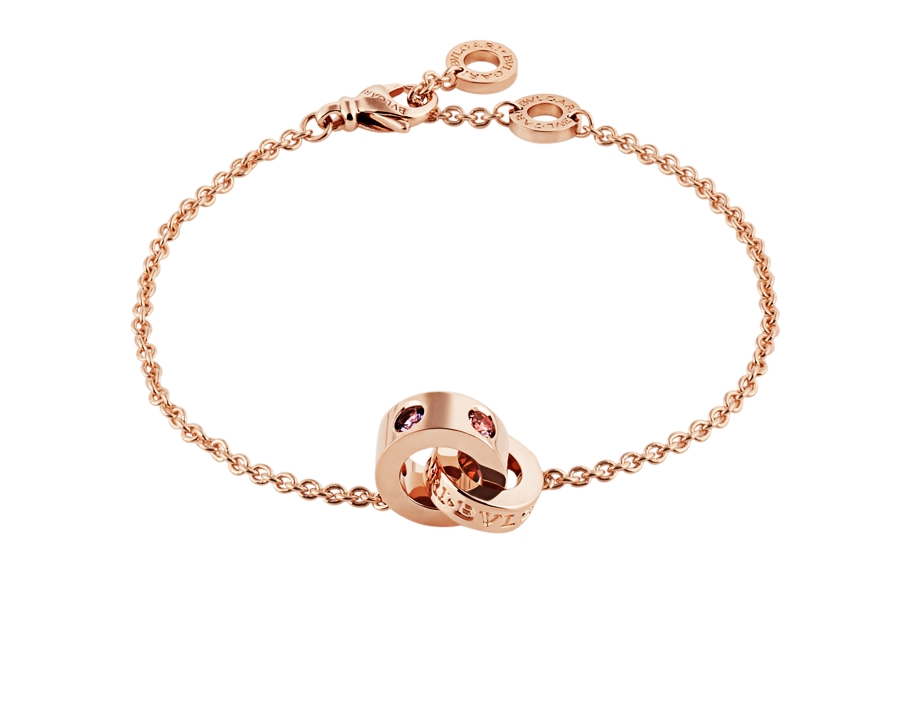 BVLGARI BVLGARI 18 kt rose gold bracelet set with amethysts and pink tourmalines BR857740 image 1