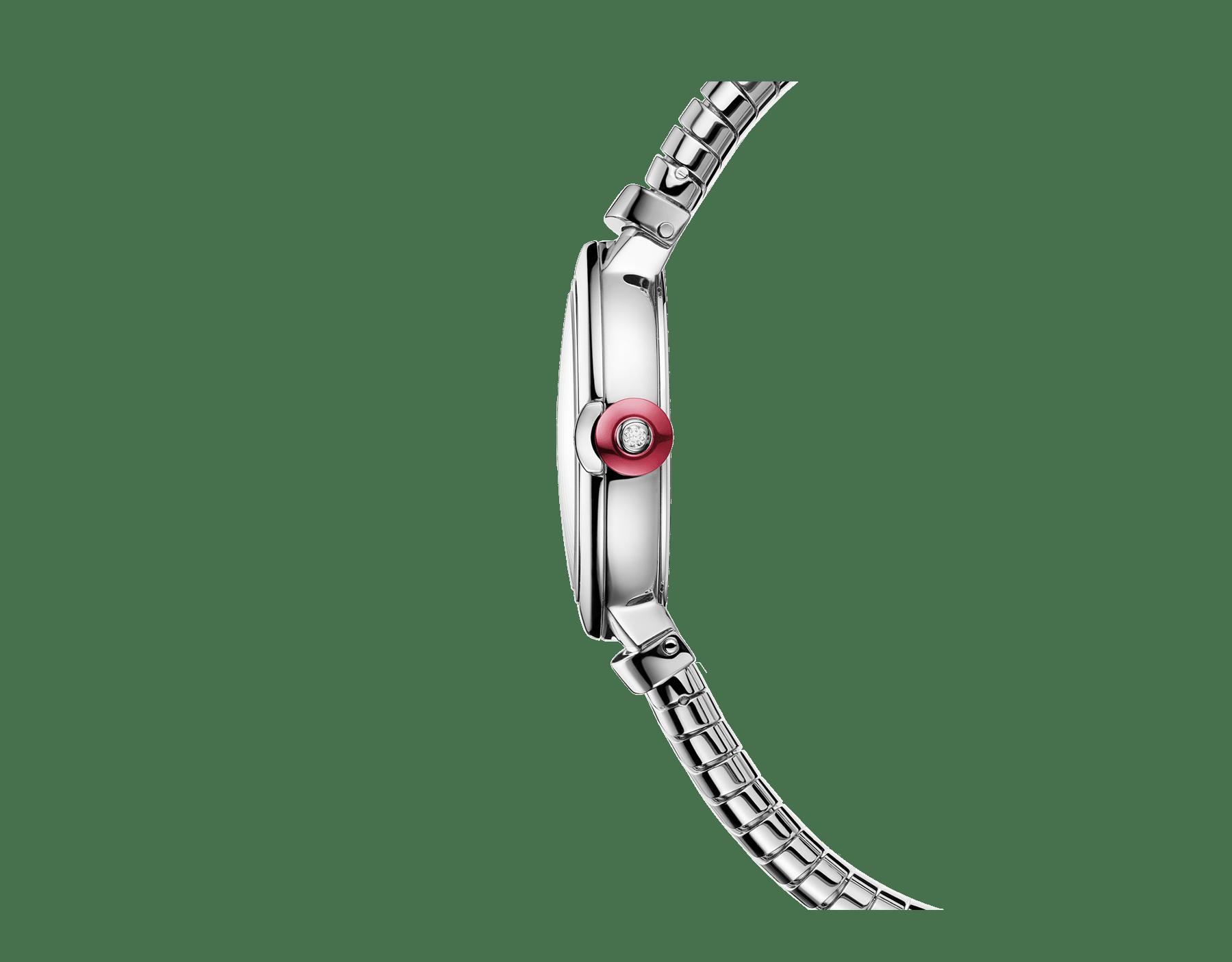Reloj LVCEA Tubogas con caja y brazalete tubogas en acero inoxidable, esfera lacada en negro y diamantes engastados como índices. 102951 image 2