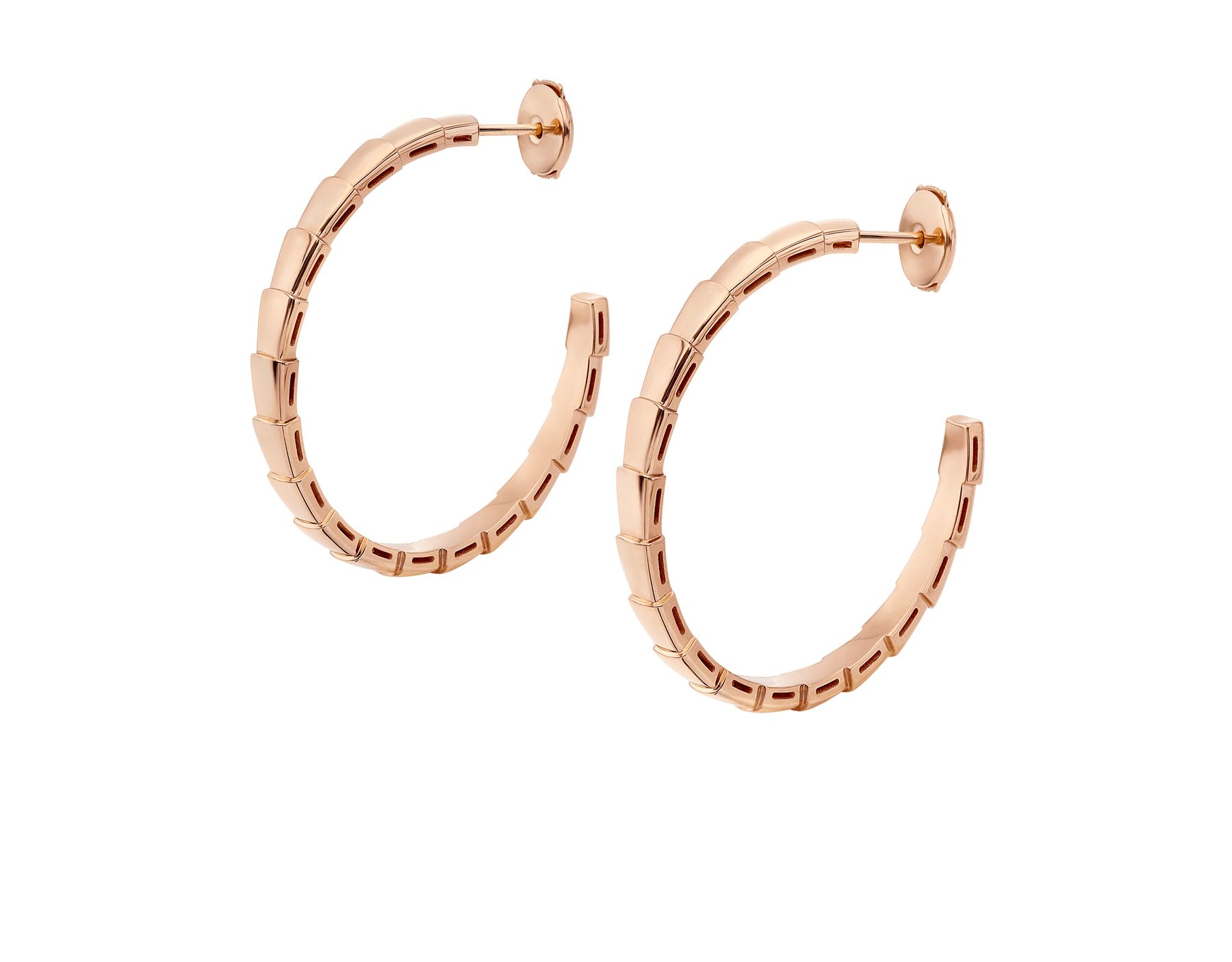 Serpenti Viper 18 kt rose gold earrings 356171 image 2