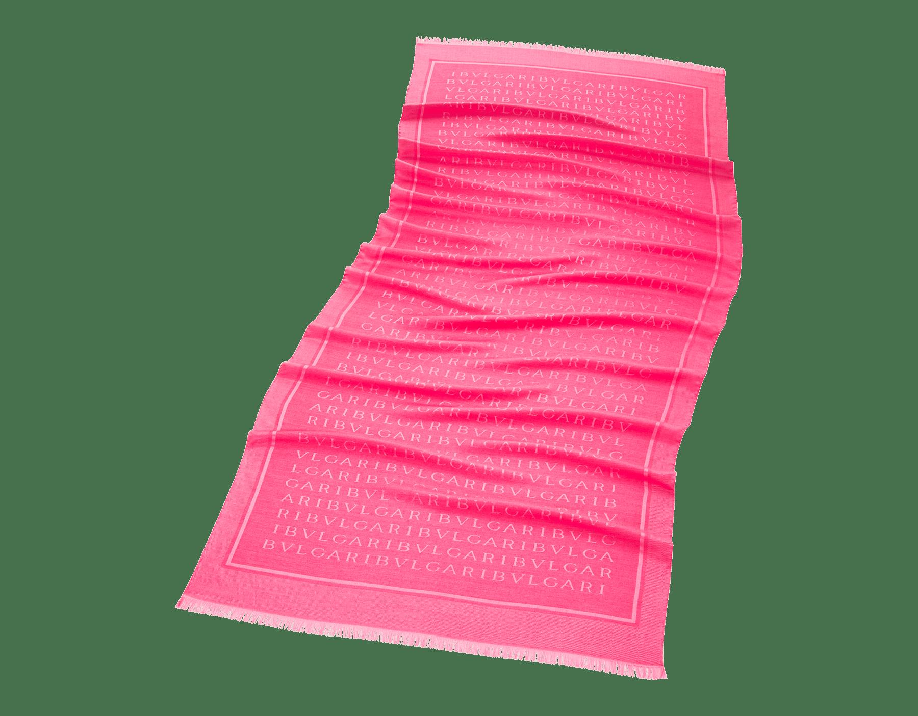 Étole Lettere Maxi couleur Flash Amethyst en laine et soie fine. 244065 image 1