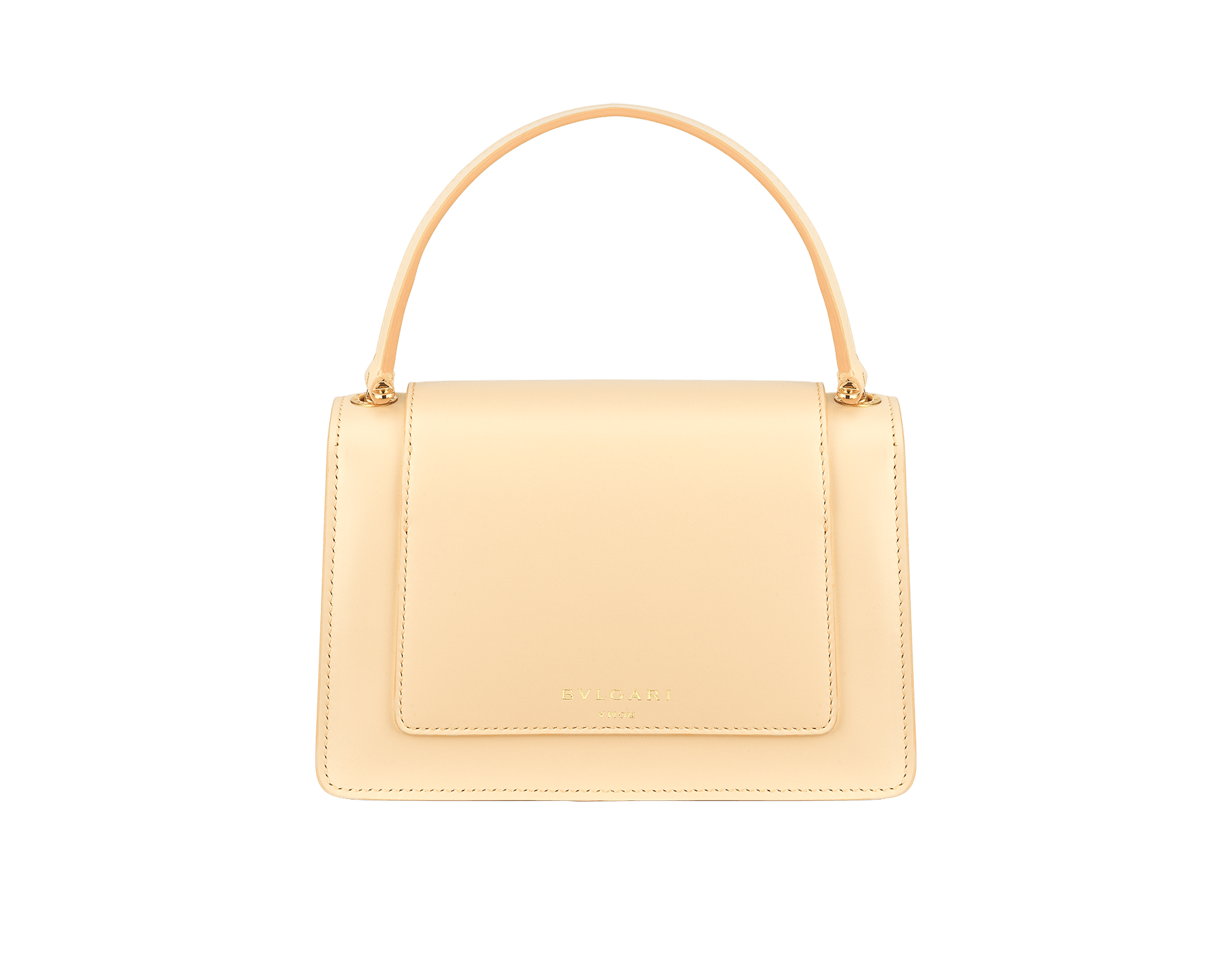 """Alexander Wang x Bvlgari"" belt bag in smooth peach calf leather. New double Serpenti head closure in antique gold-plated brass with tempting red enamel eyes. SFW-001-1029S image 3"