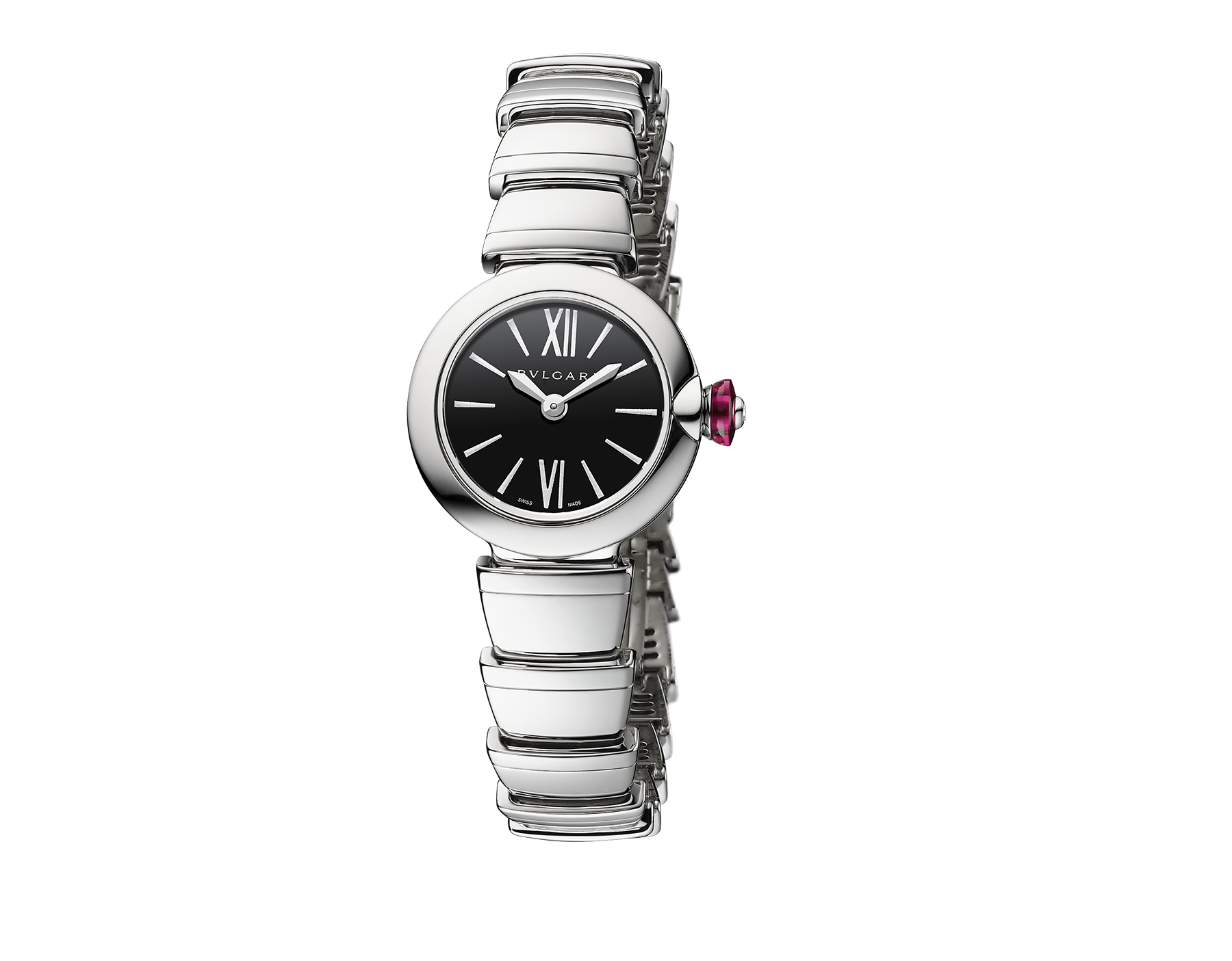Piccola Lvcea watch in stainless steel case and bracelet with black lacquered dial. 102902 image 1