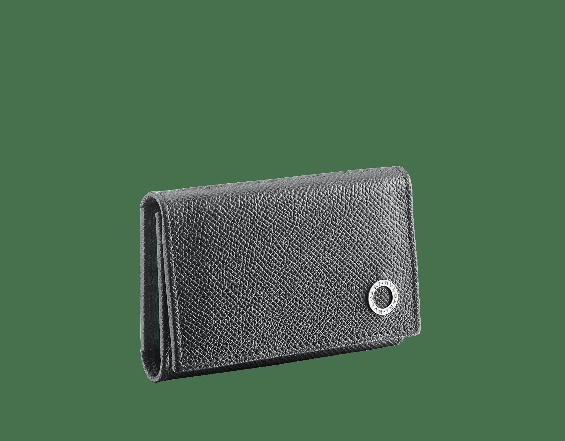 BVLGARI BVLGARI double key holder in denim sapphire grained calf leather. Detachable car key holder in palladium plated brass. BBM-DOUBLE-KEYHOLDa image 1