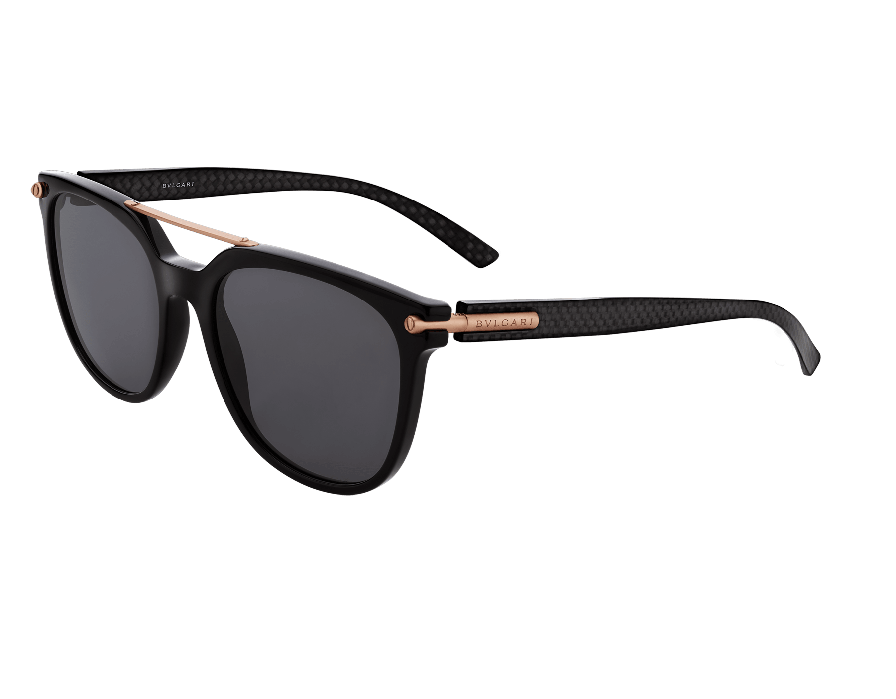 BVLGARI BVLGARI squared acetate sunglasses with metal double bridge and carbon fibre arms. 903907 image 1