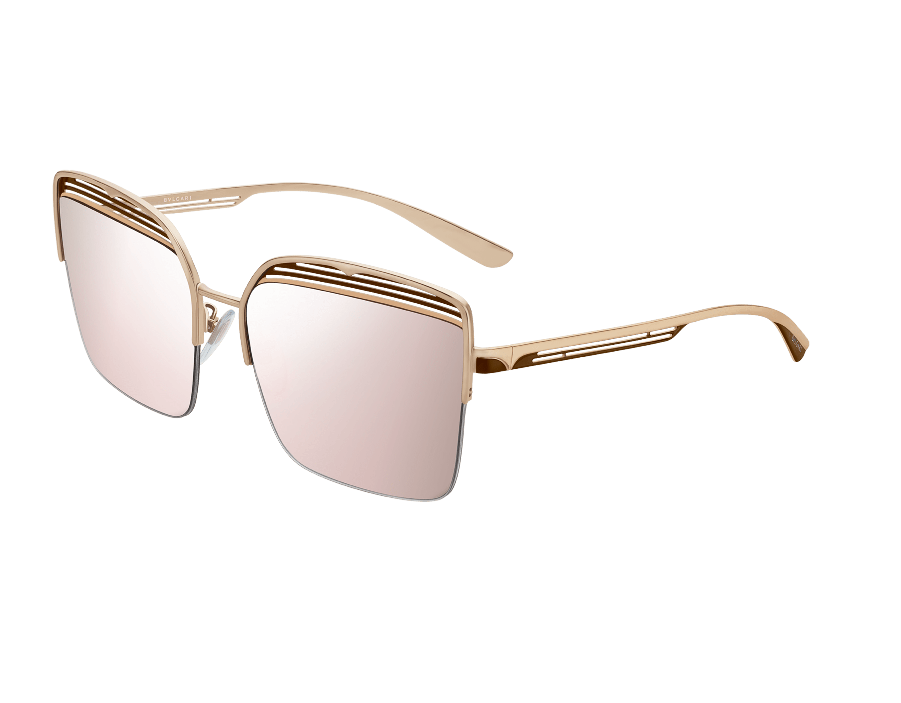 Bvlgari B.zero1 B.overvibe half-rim square metal sunglasses. 903812 image 1