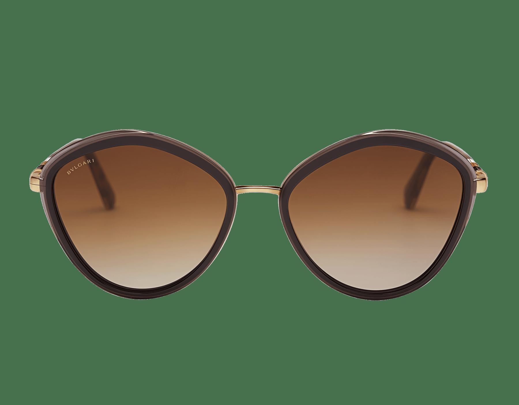 Bulgari Serpenti rounded metal sunglasses. 903987 image 2