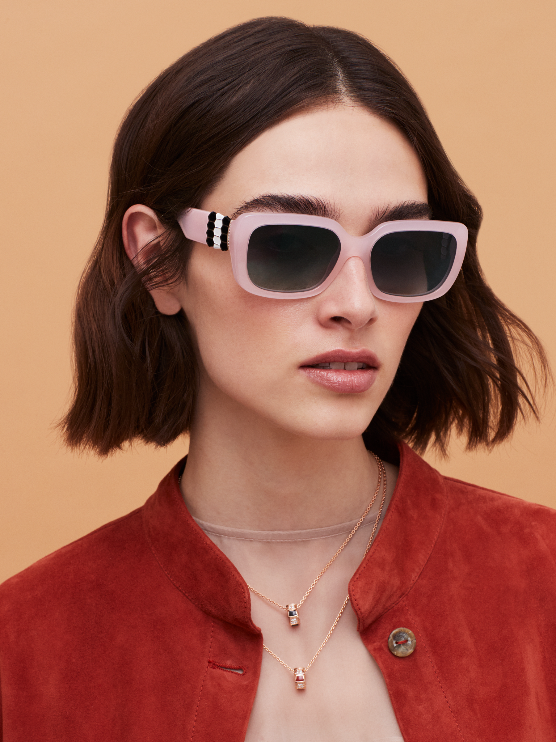 Bulgari Serpenti Back-to-scale rectangular acetate sunglasses. 903969 image 3