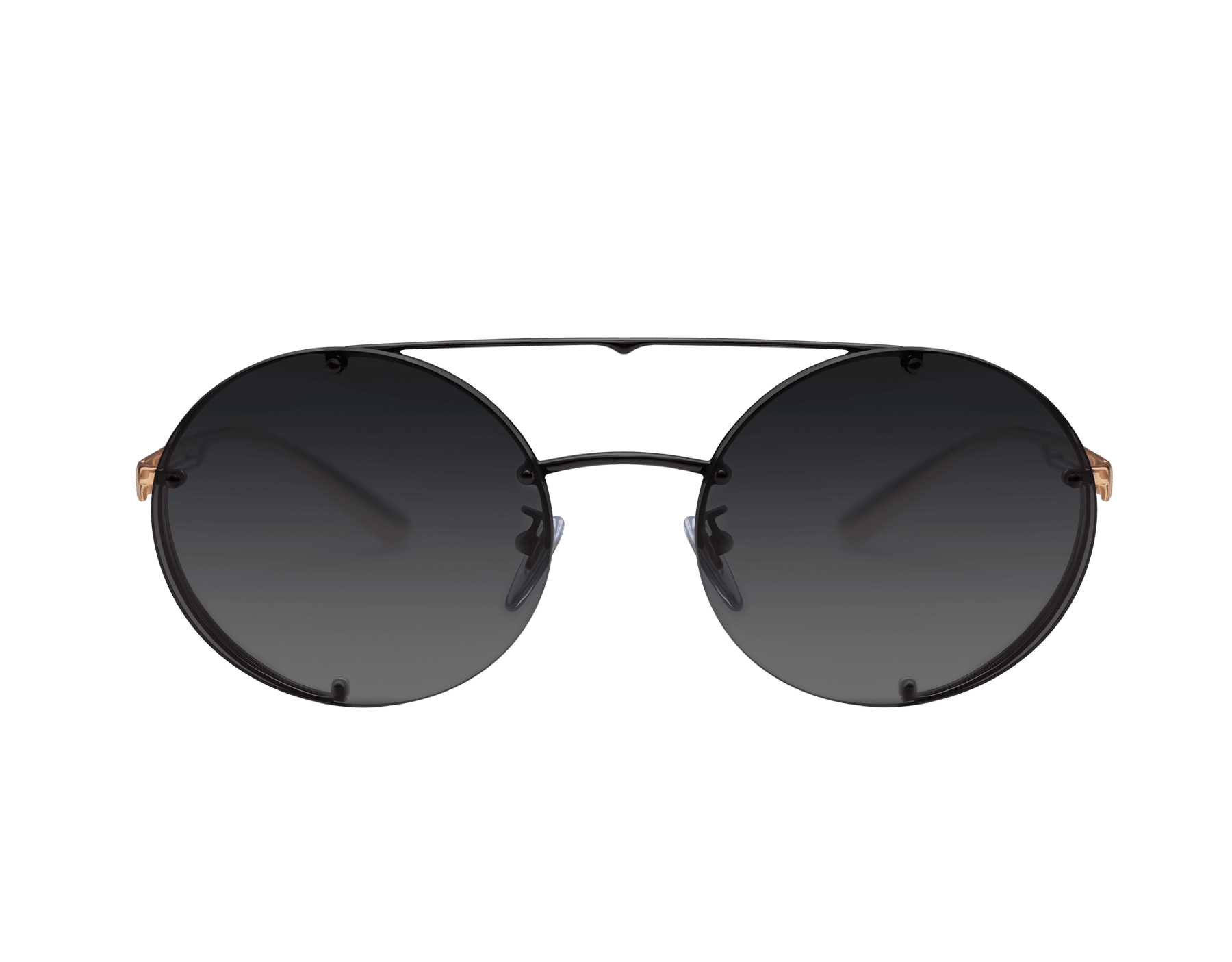 Bvlgari B.zero1 B.flyingstripe round metal aviator sunglasses. 903818 image 2