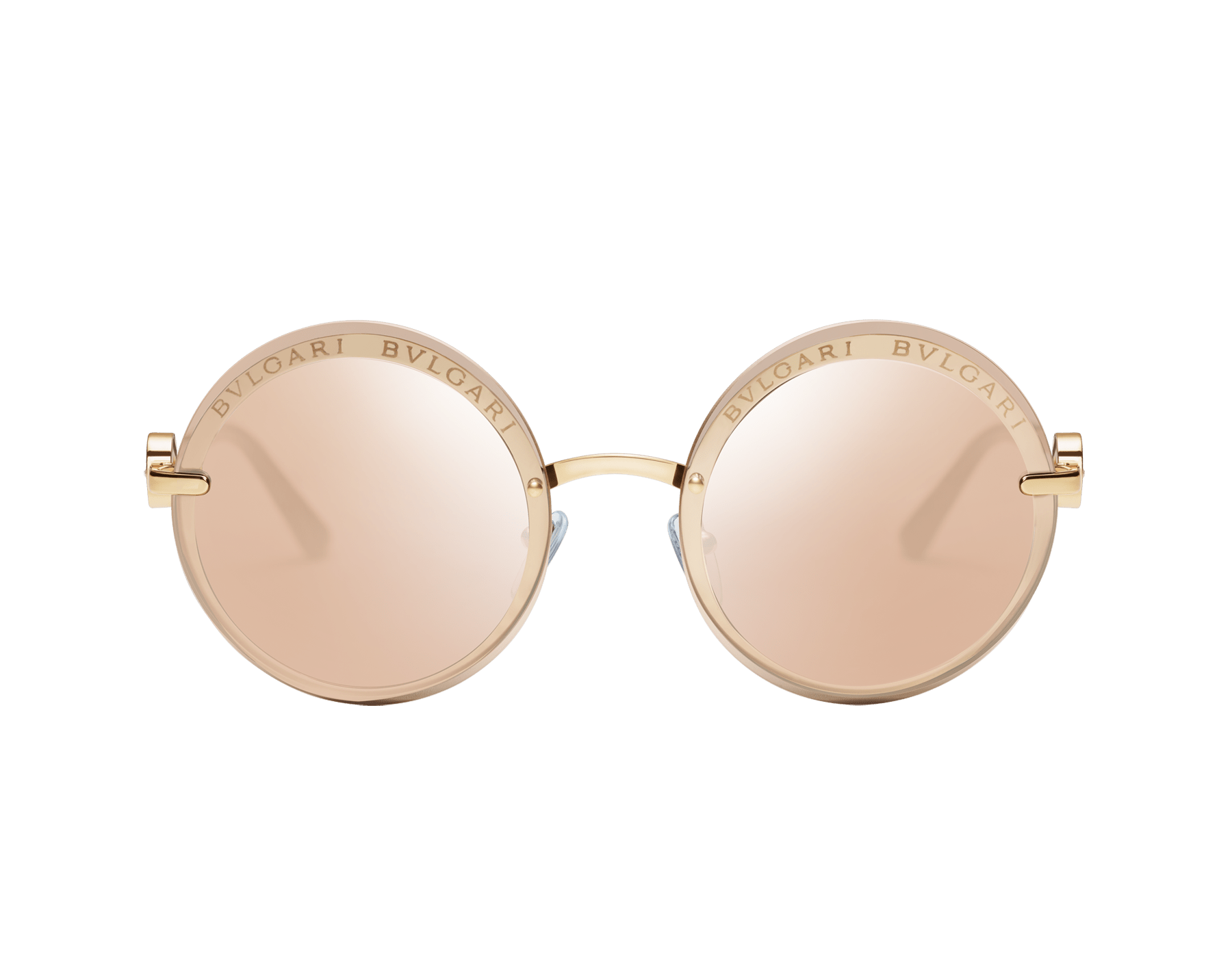 "Bvlgari Bvlgari ""On-Me"" round metal sunglasses. 904041 image 2"