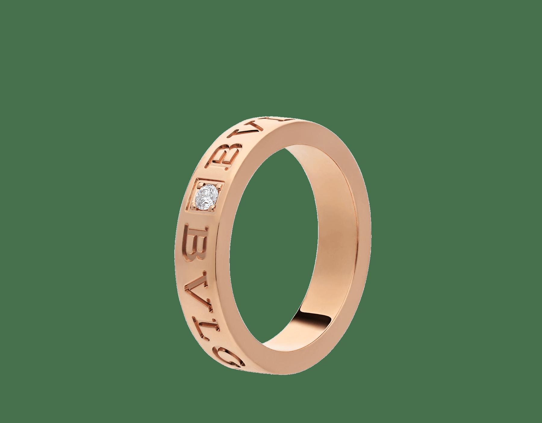 Bague BVLGARI BVLGARI en or rose 18K sertie d'un diamant AN854185 image 1