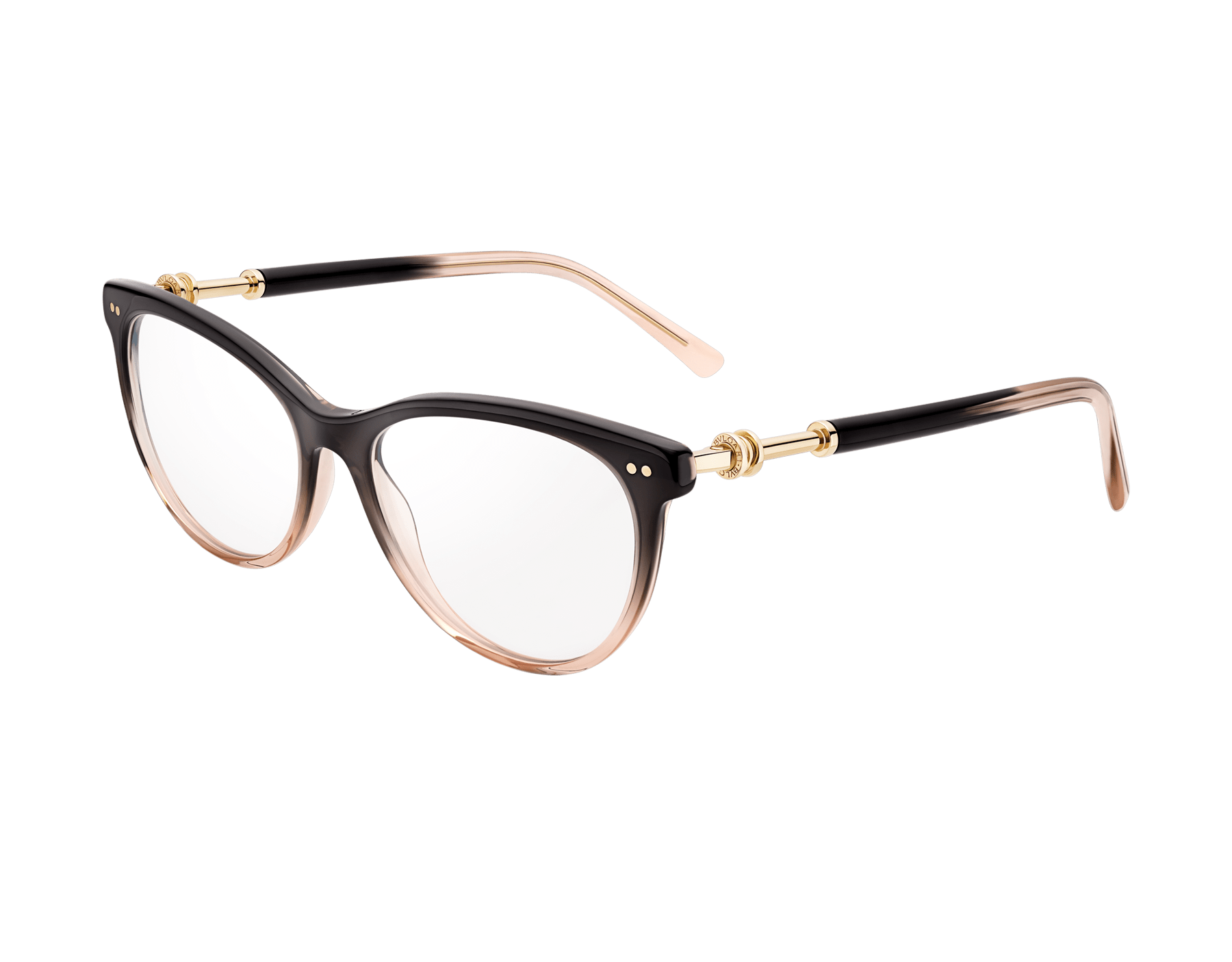B.zero1 rounded cat-eye acetate optical glasses with metal décor 903809 image 1