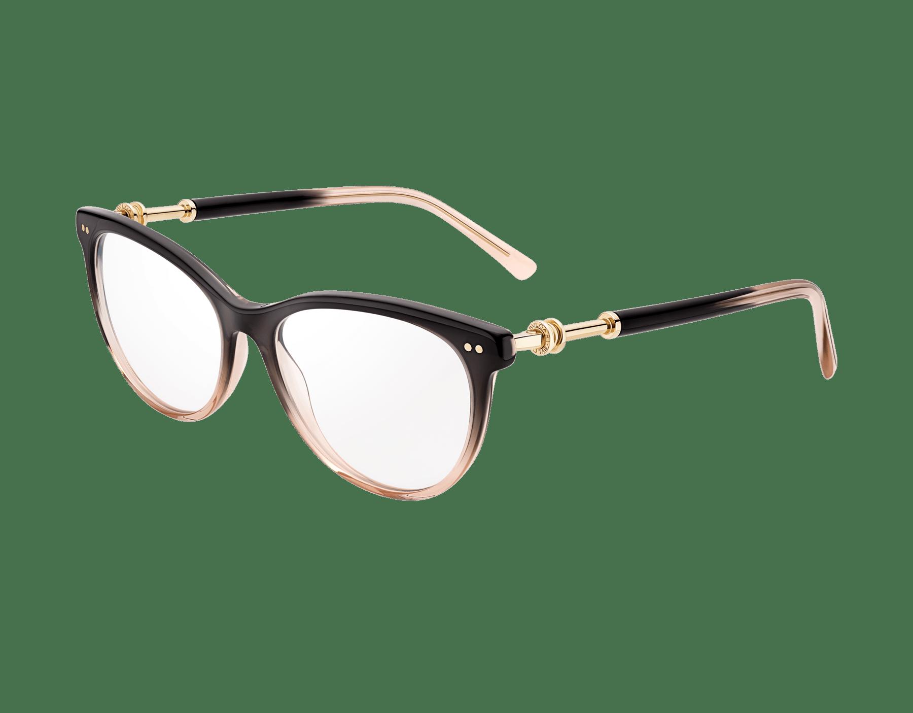 Bvlgari B.zero1 圓形貓眼醋酸纖維光學鏡架,飾以金屬元素。 903809 image 1