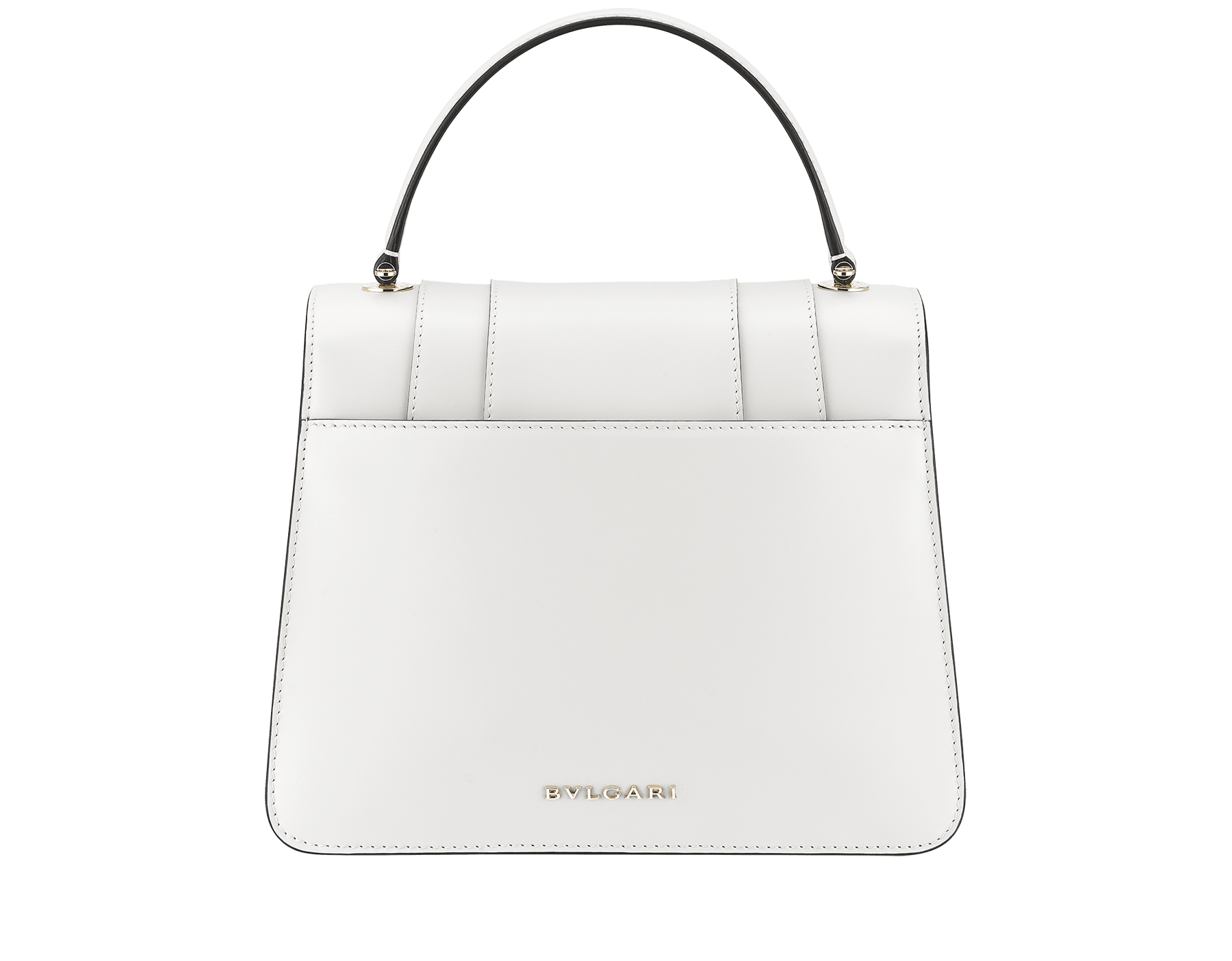 """Serpenti Forever"" top handle bag in daisy topaz calf leather. Iconic snake head closure in light gold plated brass enriched with black and white enamel and green malachite eyes. 1050-CL image 5"