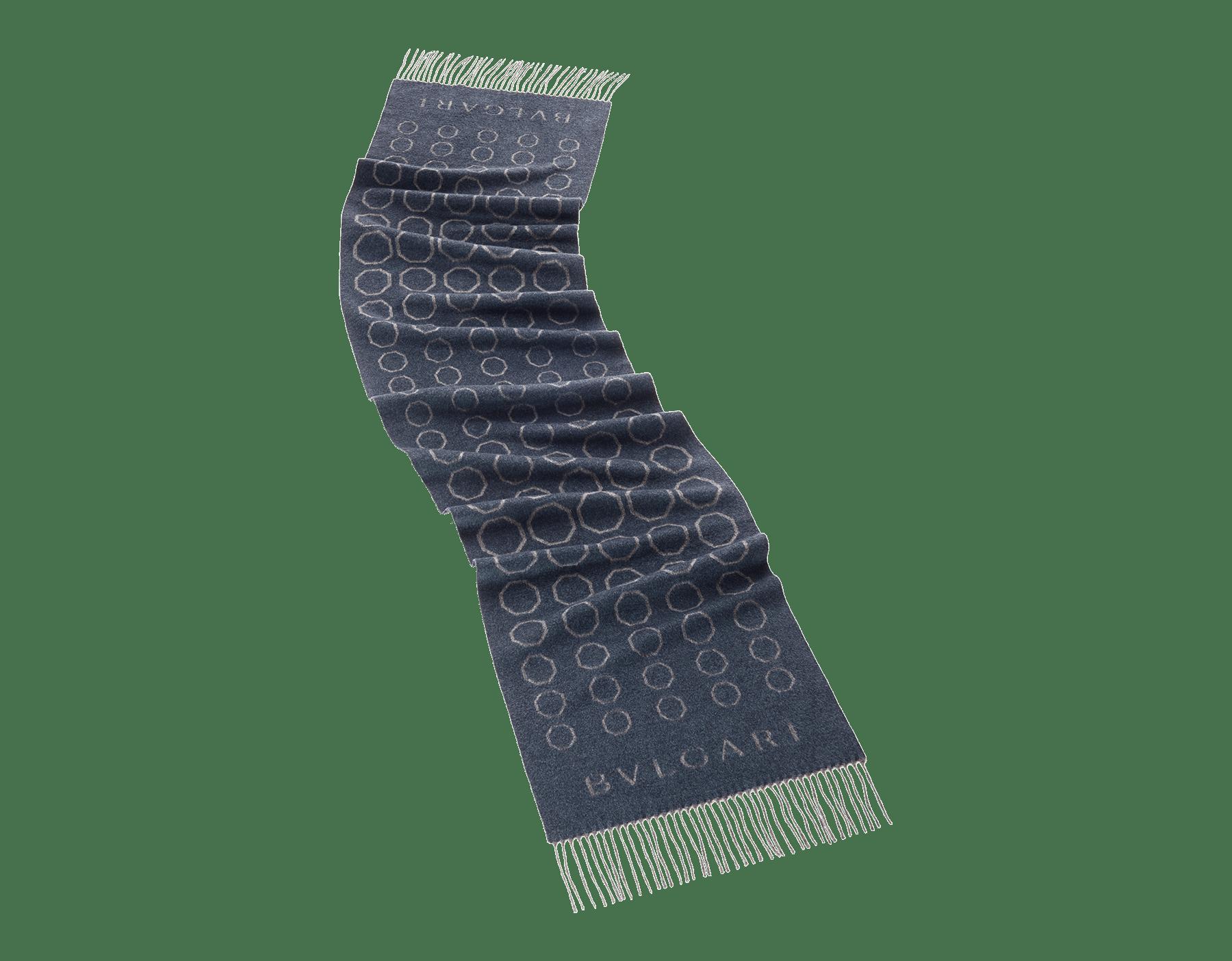 Dark blue Octo Degradè stole in fine wool. 243834 image 1