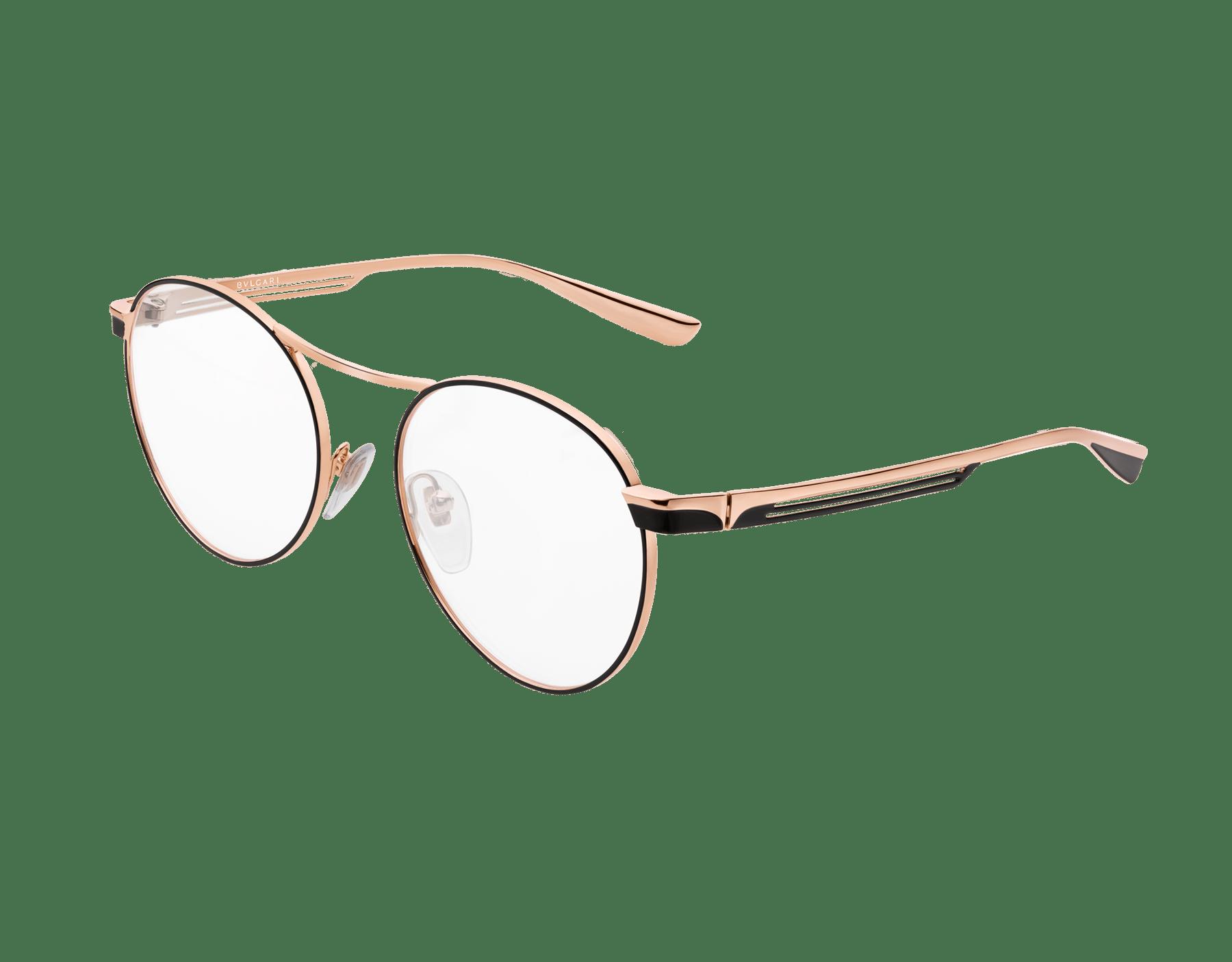 Bulgari B.zero1 B.glassy: occhiali da vista in metallo dalla forma arrotondata. 903758 image 1