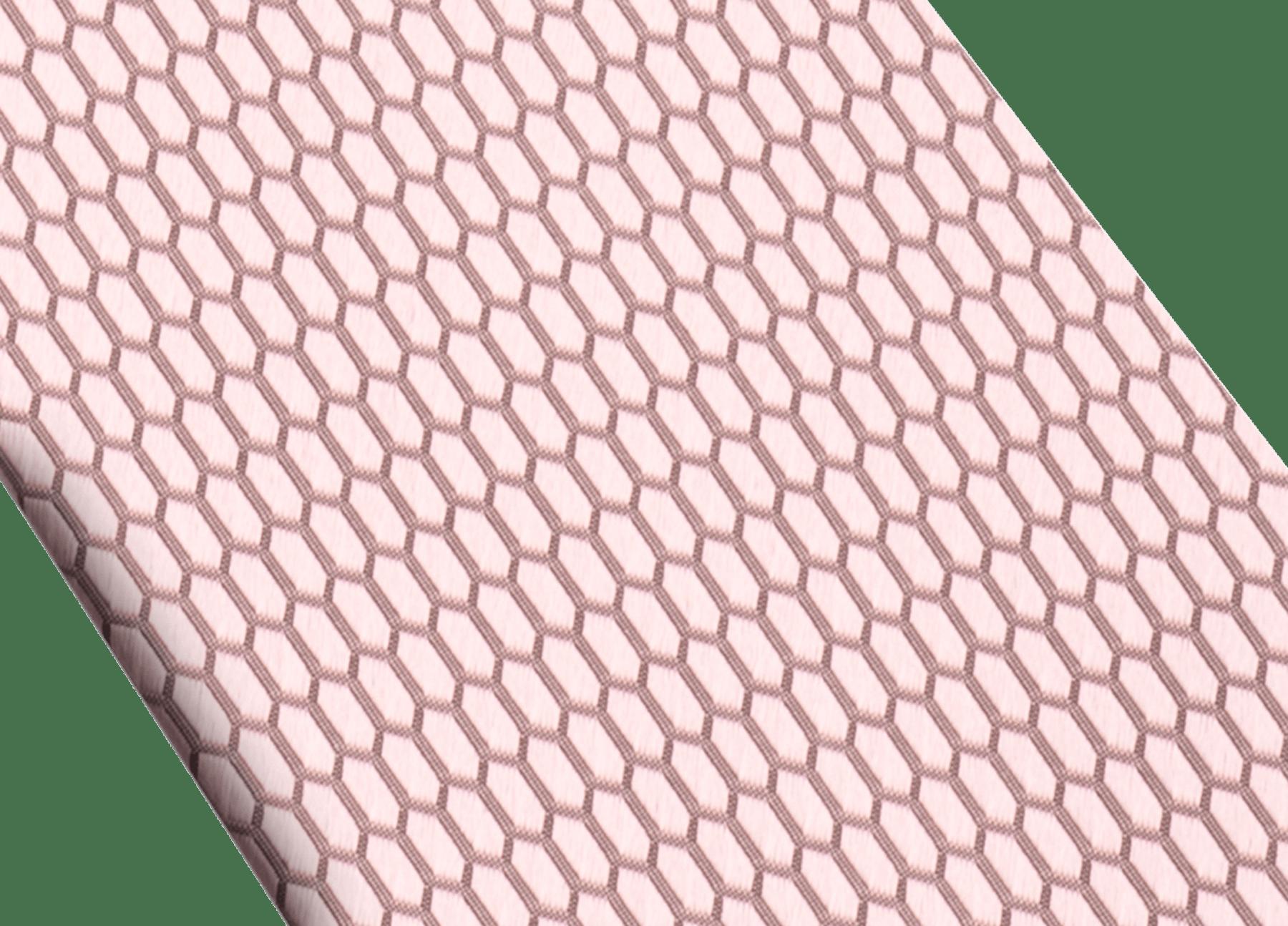Cravate sept plis Snake Colour rose en jacquard de soie fine. 244098 image 2