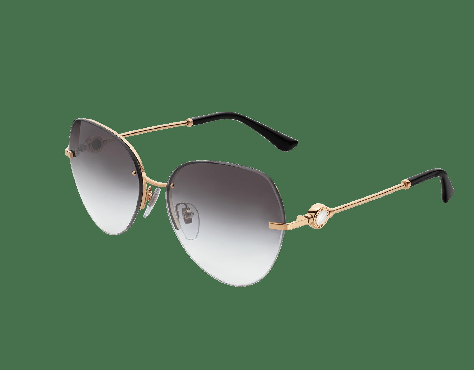 BVLGARI BVLGARI semi-rimless aviator sunglasses. 903538 image 1