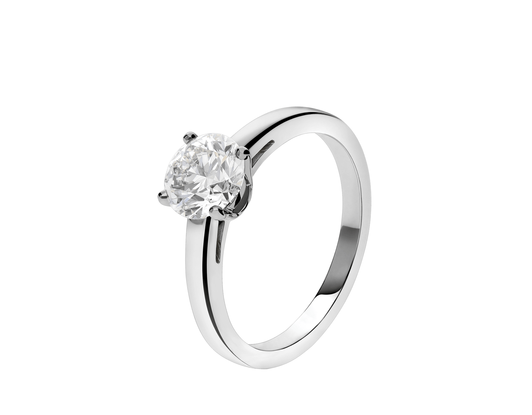 Griffe ring in platinum with round brilliant cut diamond. Available from 0.30 ct. 327827 image 1