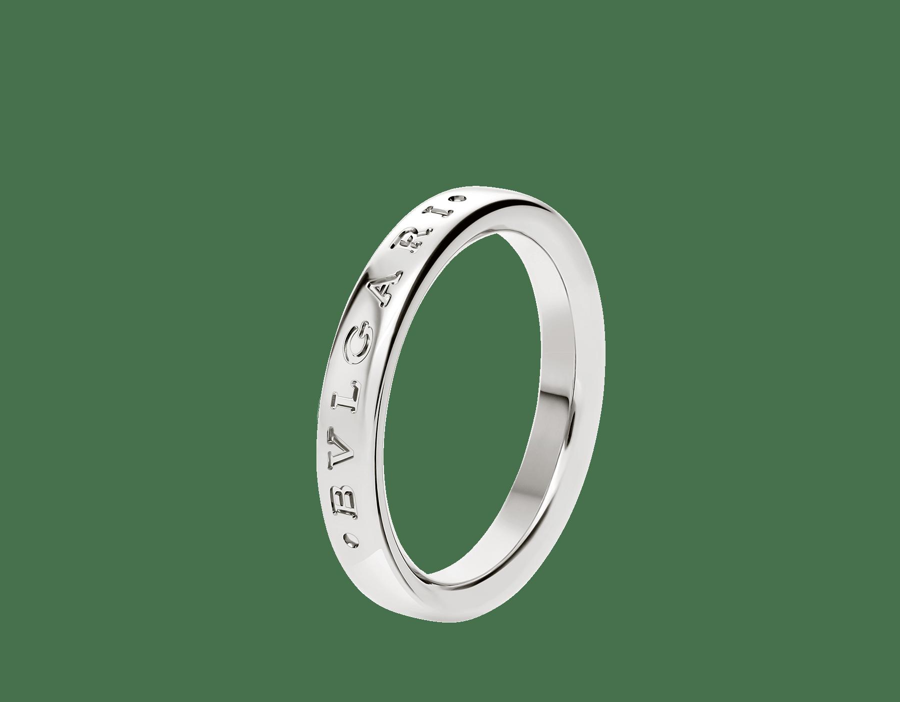 Alianza Fedi en platino con logotipo BVLGARI BVLGARI fino grabado. AN858268 image 1