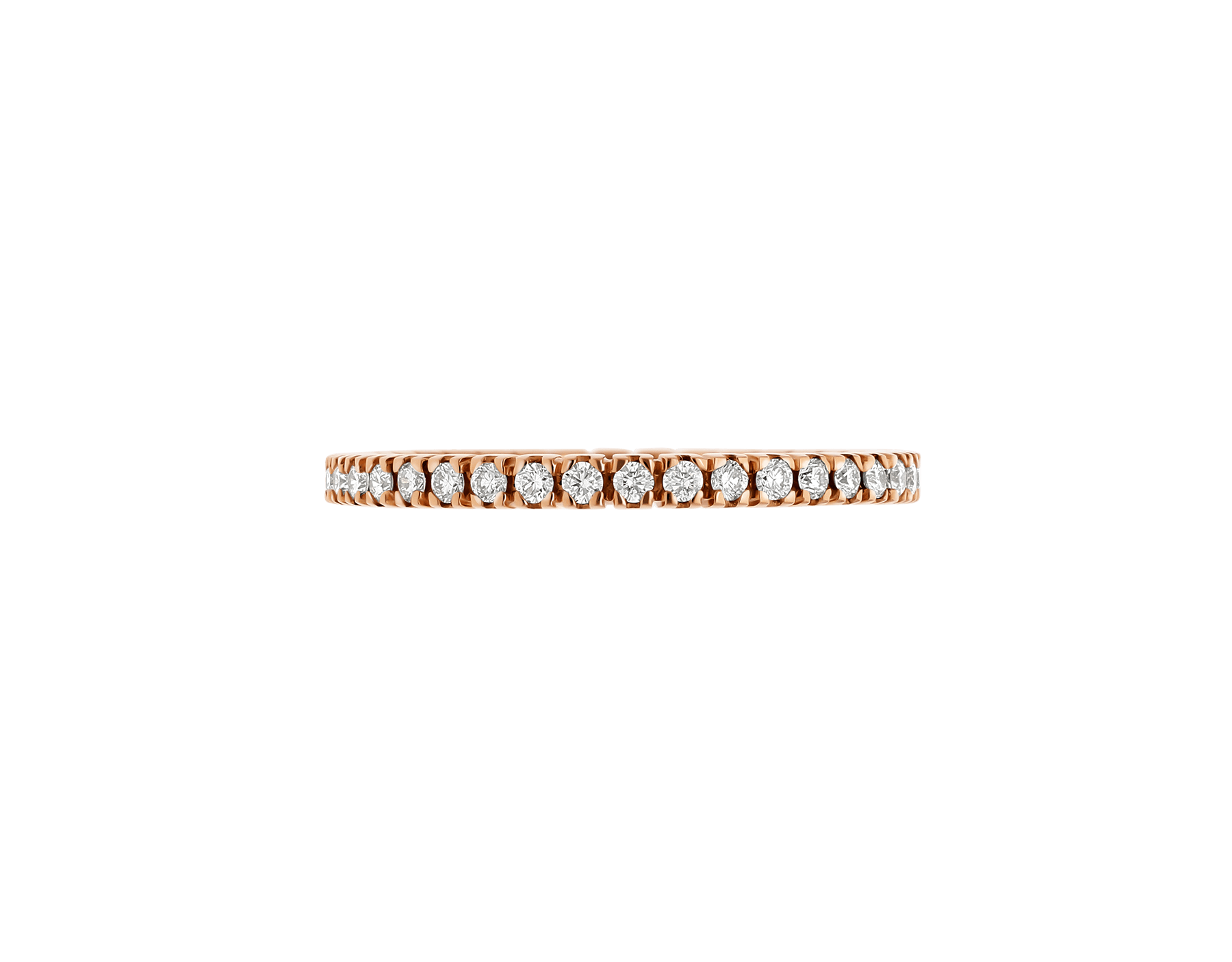 Eternity Band in thin size in 18 kt rose gold with demi tour round brilliant cut diamonds AN857561 image 2