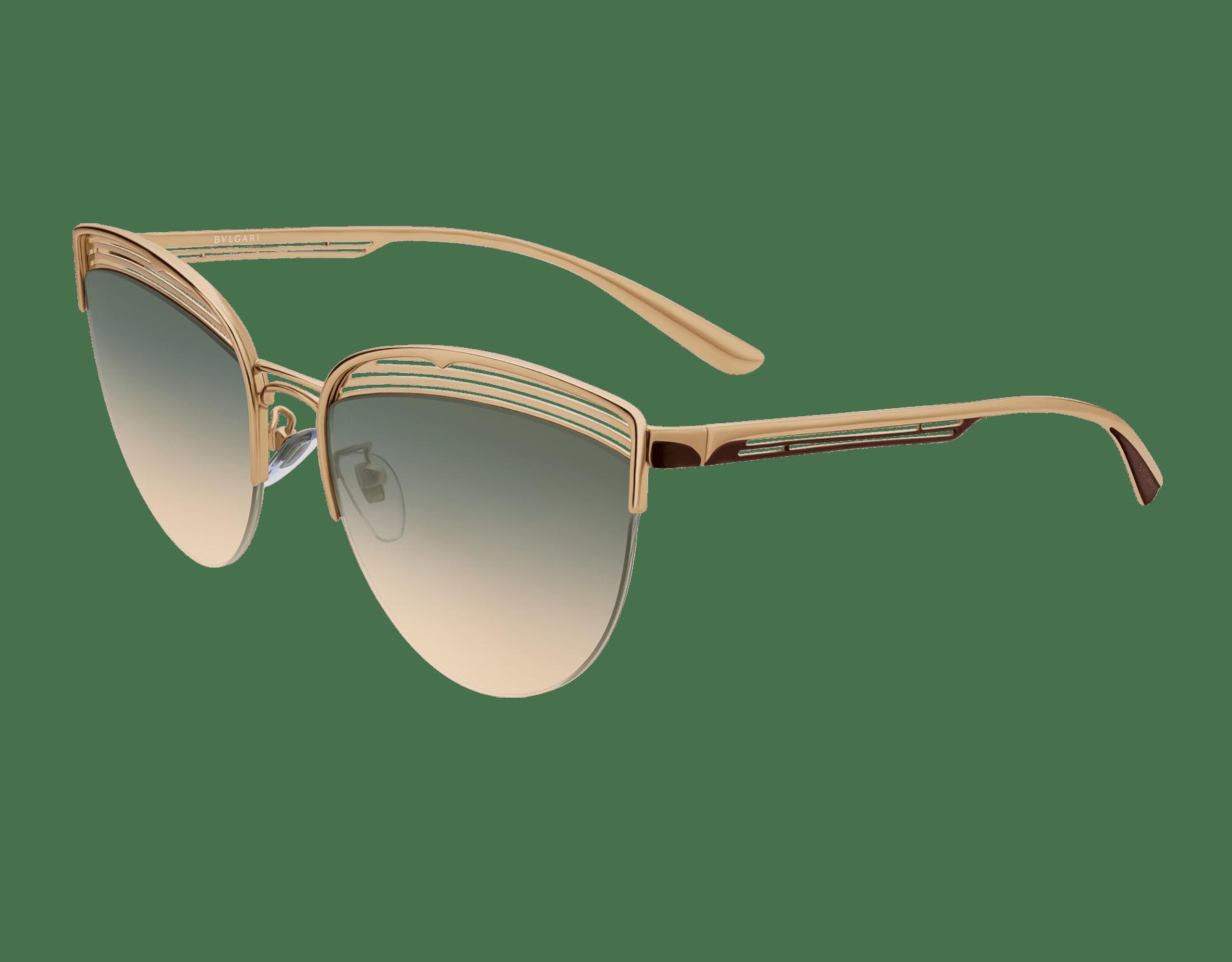 Gafas de sol Bvlgari B.zero1 B.purevibes de ojo de gato con semiarmazón en metal. 903895 image 1