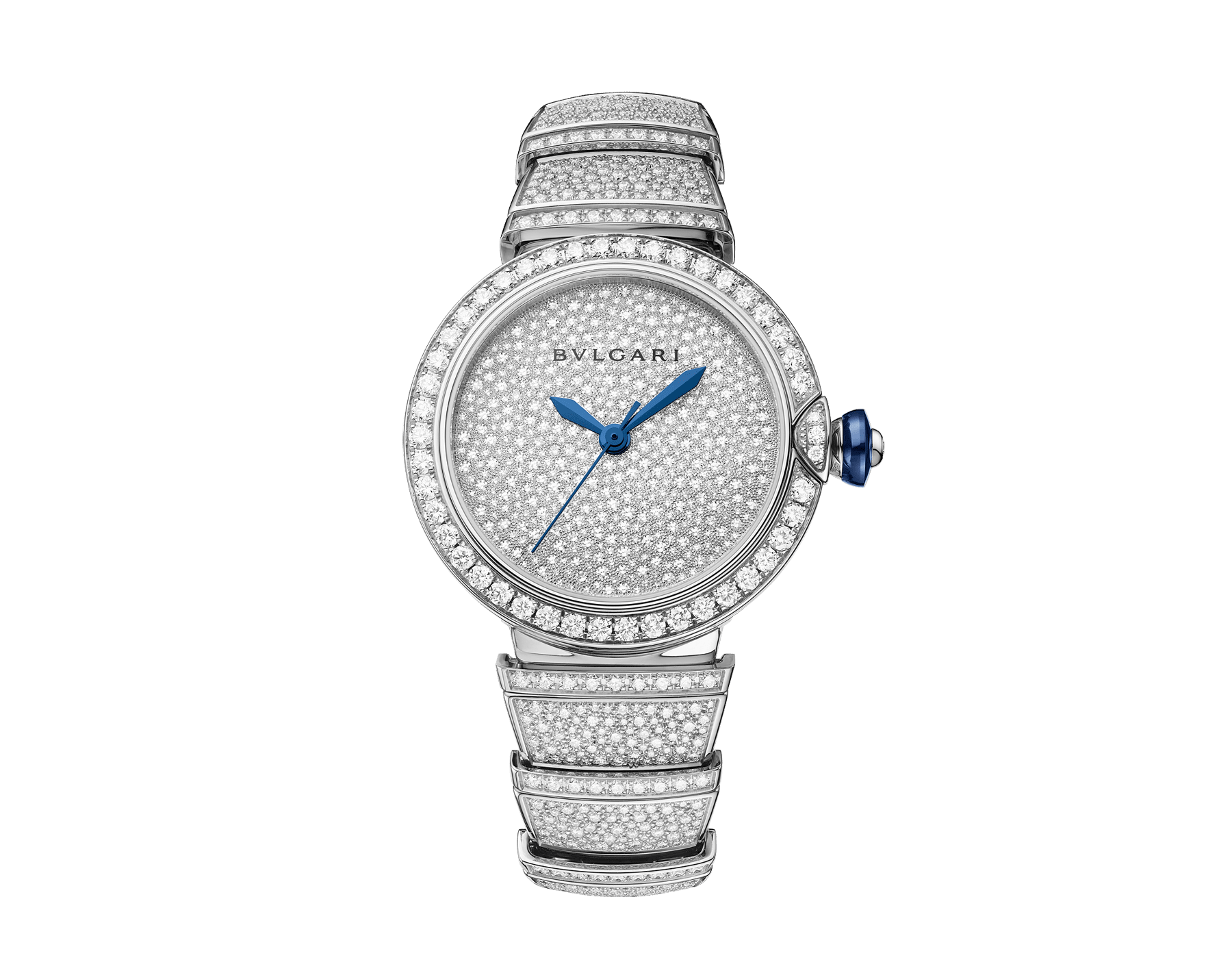 LVCEA watch in 18 kt white gold with brilliant-cut diamond set case and bracelet, and full pavé diamond dial. 102365 image 1