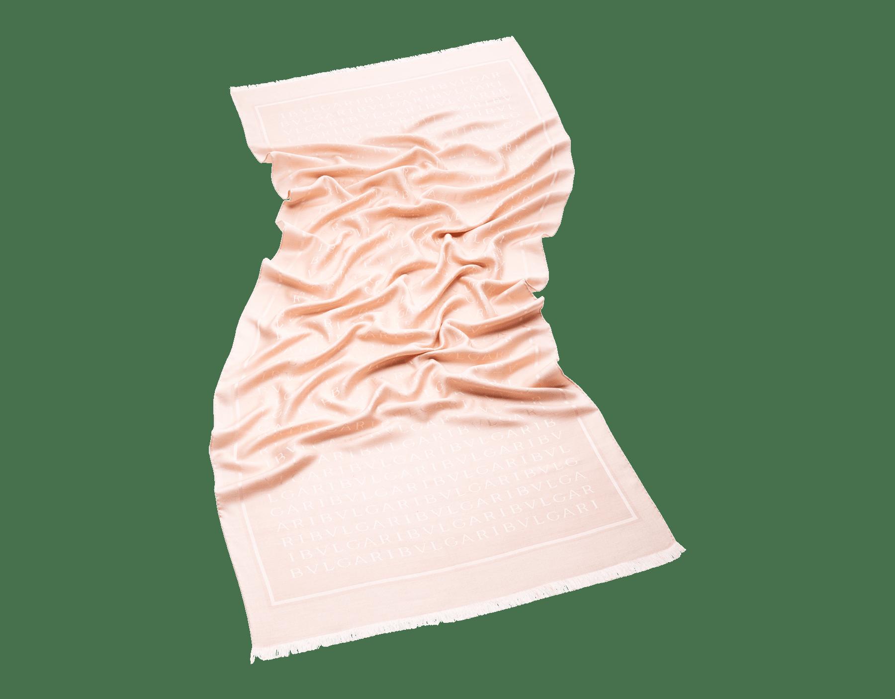 ミメティックジェイドのレッテレ マキシ ストール。上質なシルクウール製。 LETTEREMAXIa image 1