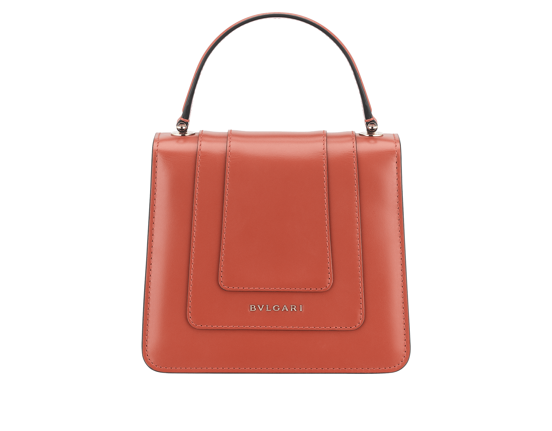 Serpenti Forever crossbody bag in imperial topaz calf leather with Roman garnet, rosa di francia and white agate calf leather sides. Iconic snakehead closure in light gold plated brass embellished with imperial topaz and rosa di francia enamel and black onyx eyes. 288889 image 3