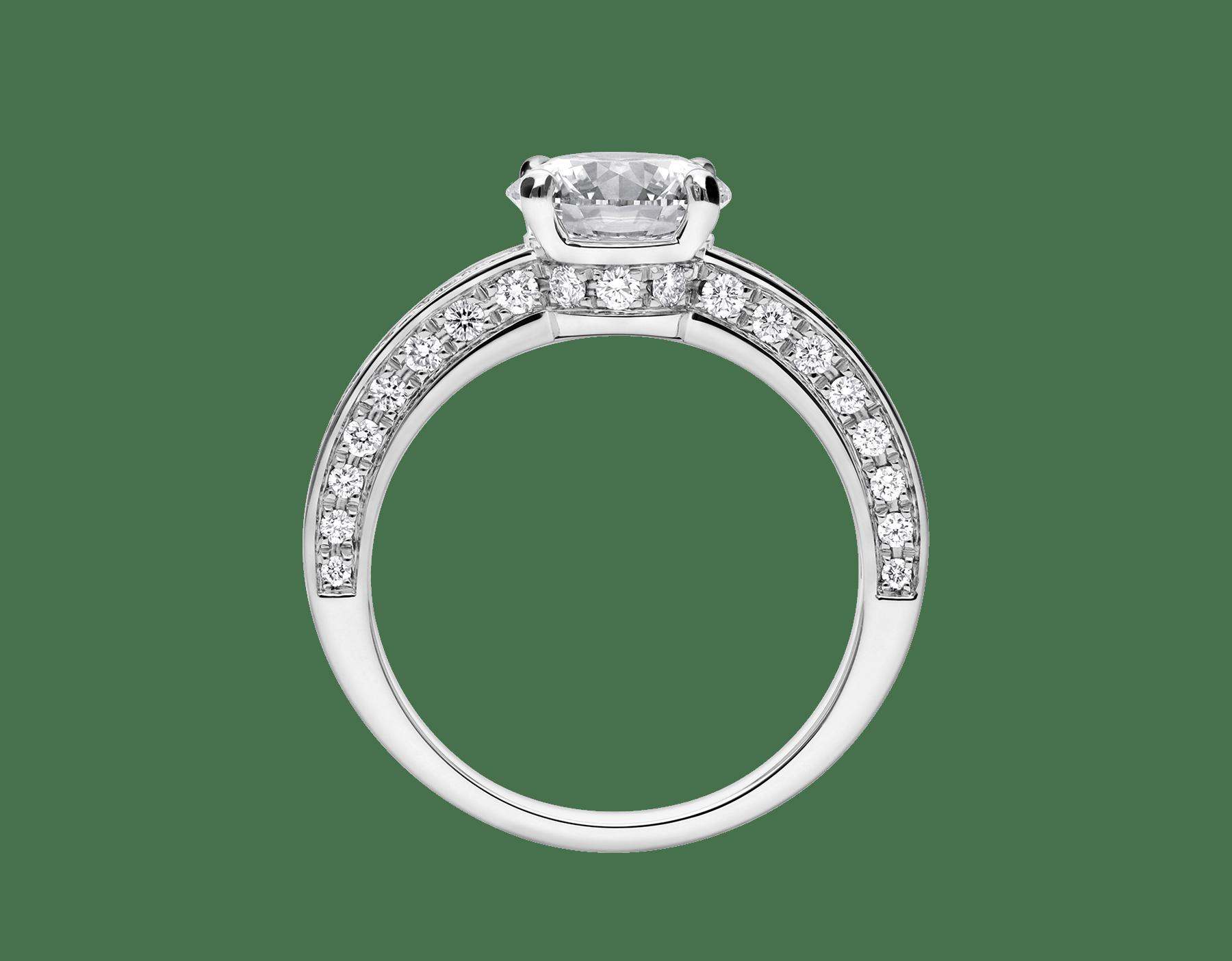 Dedicata a Venezia: solitaire1503 en platine serti d'un diamant rond taille brillant et pavé diamants 343367 image 3