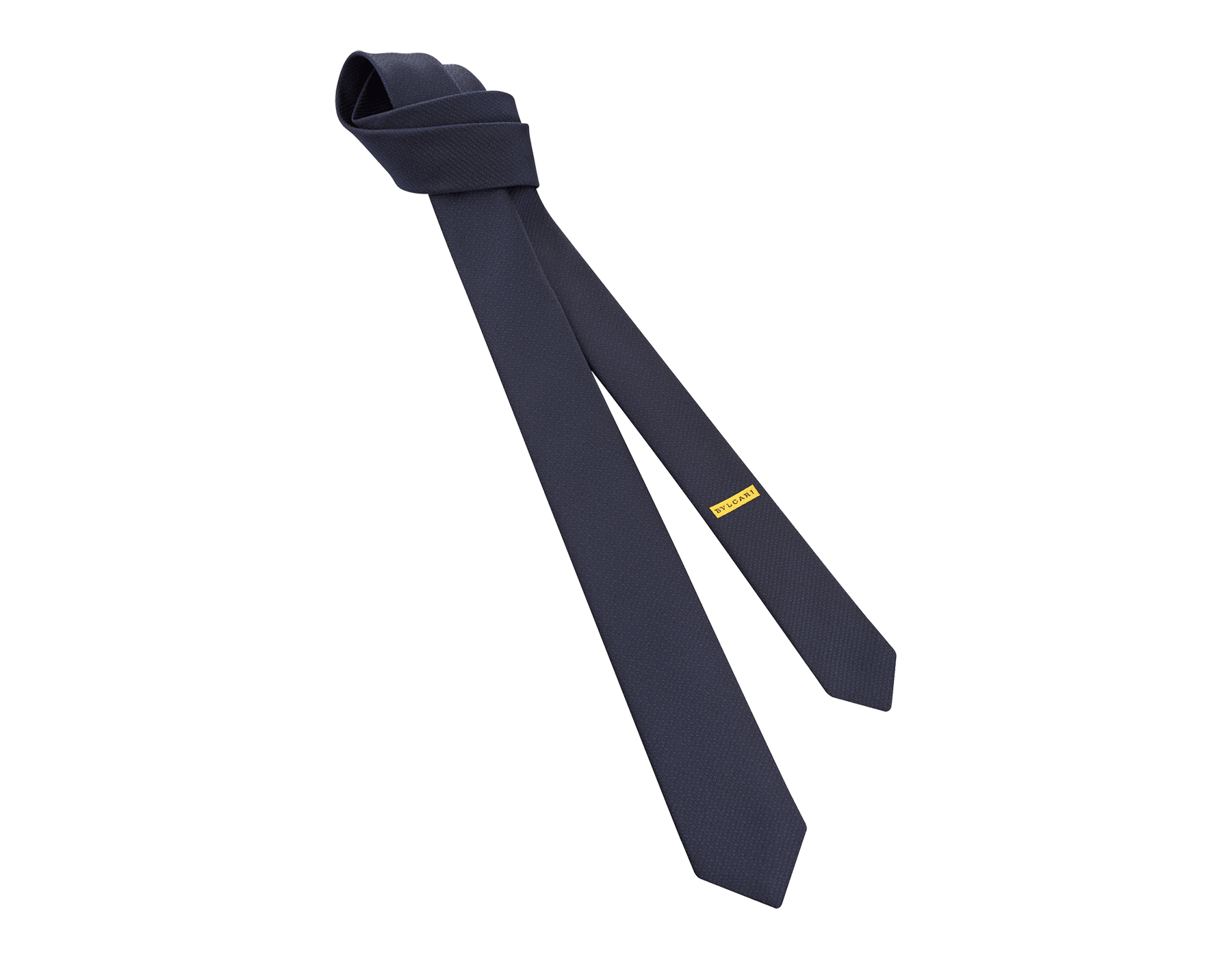 Navy Small Colours pattern seven-fold tie in fine jacquard silk. 244121 image 1