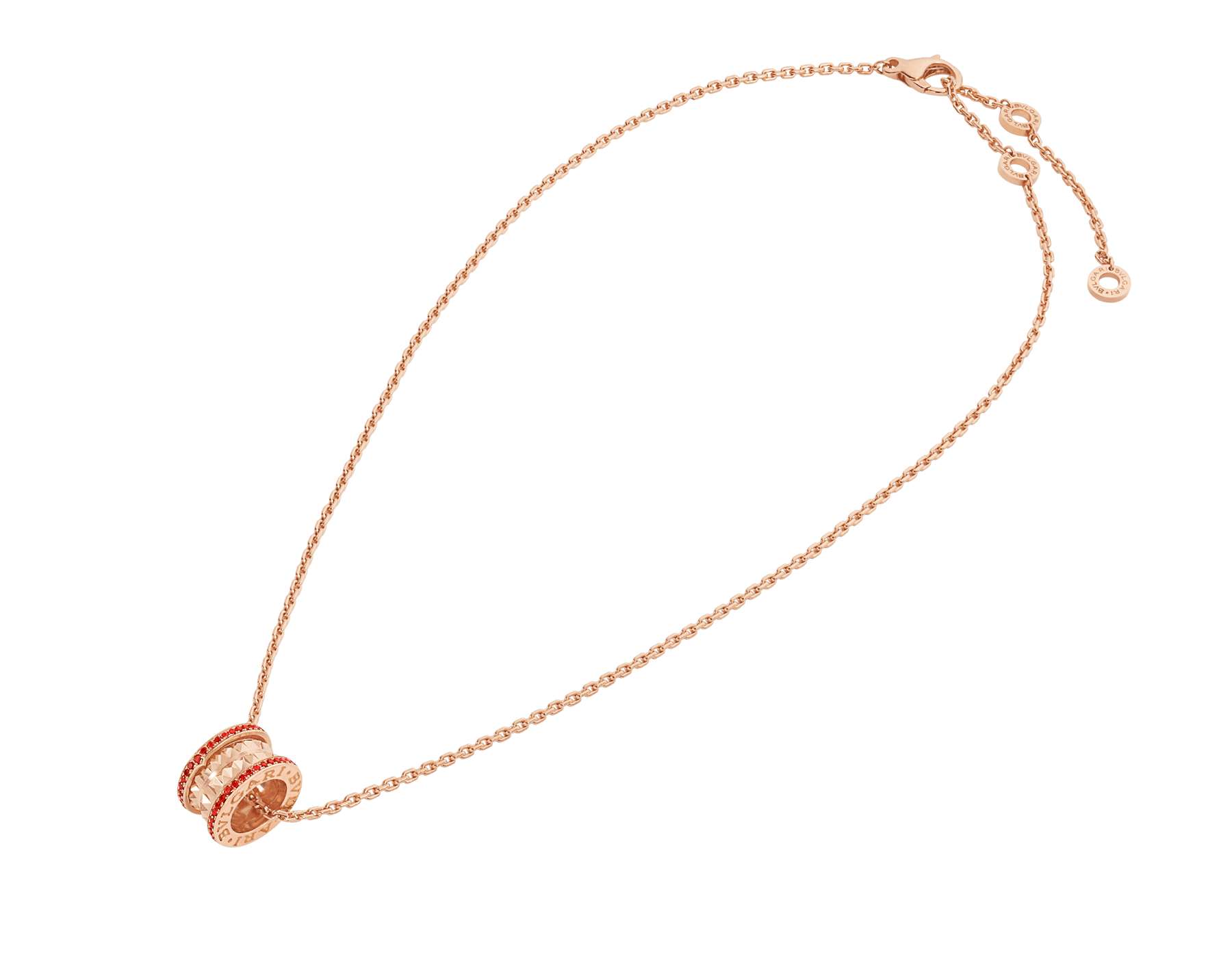 BVLGARI BVLGARI 18K 玫瑰金翻轉式戒指,鑲飾翡翠和密鑲鑽石。 358306 image 2