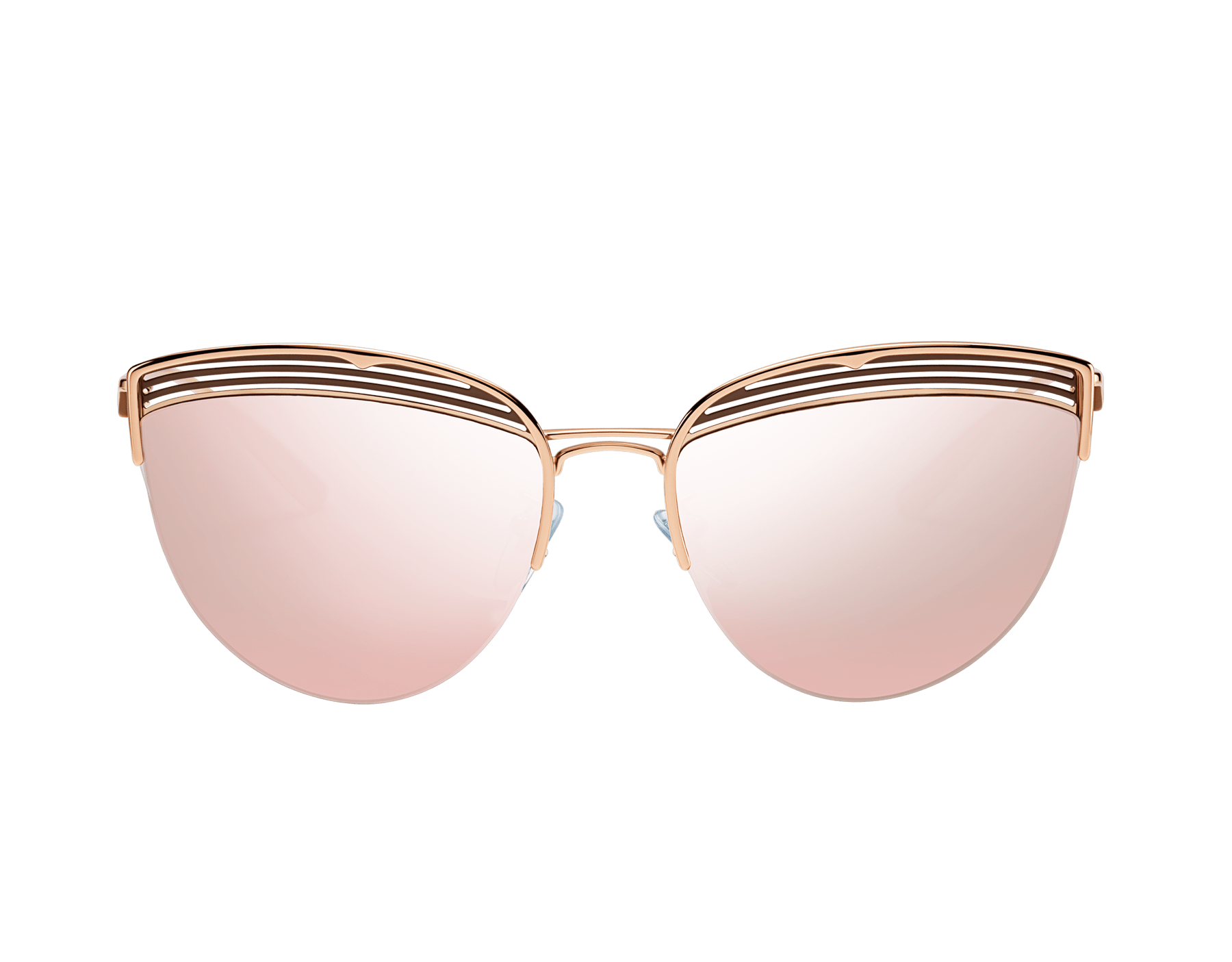 Bvlgari B.zero1 B.purevibes semi-rimless cat-eye metal sunglasses. 903717 image 2