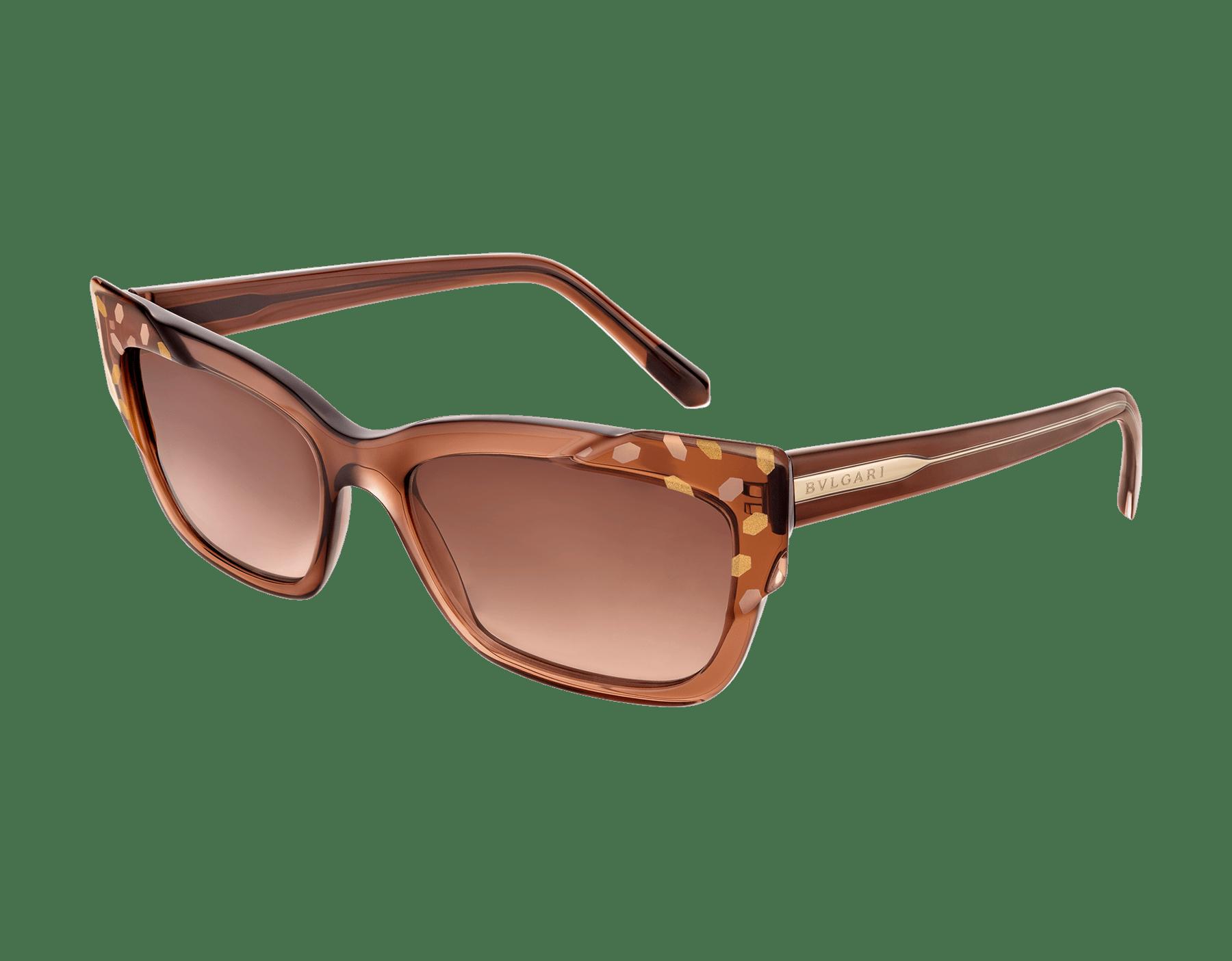 Bvlgari Serpenti Scale-blast rectangular cat-eye acetate sunglasses. 903736 image 1