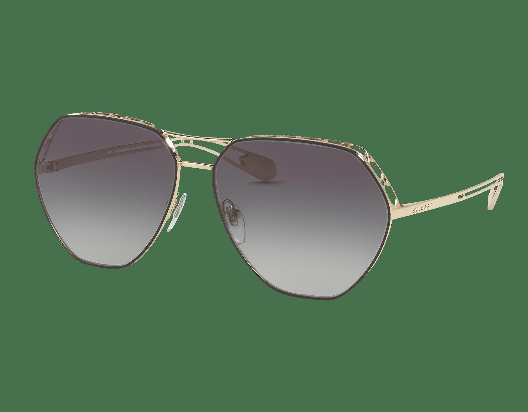 Óculos de sol Serpenti Freedomation em formato aviador extragrande com lentes angulares planas. 903405 image 1
