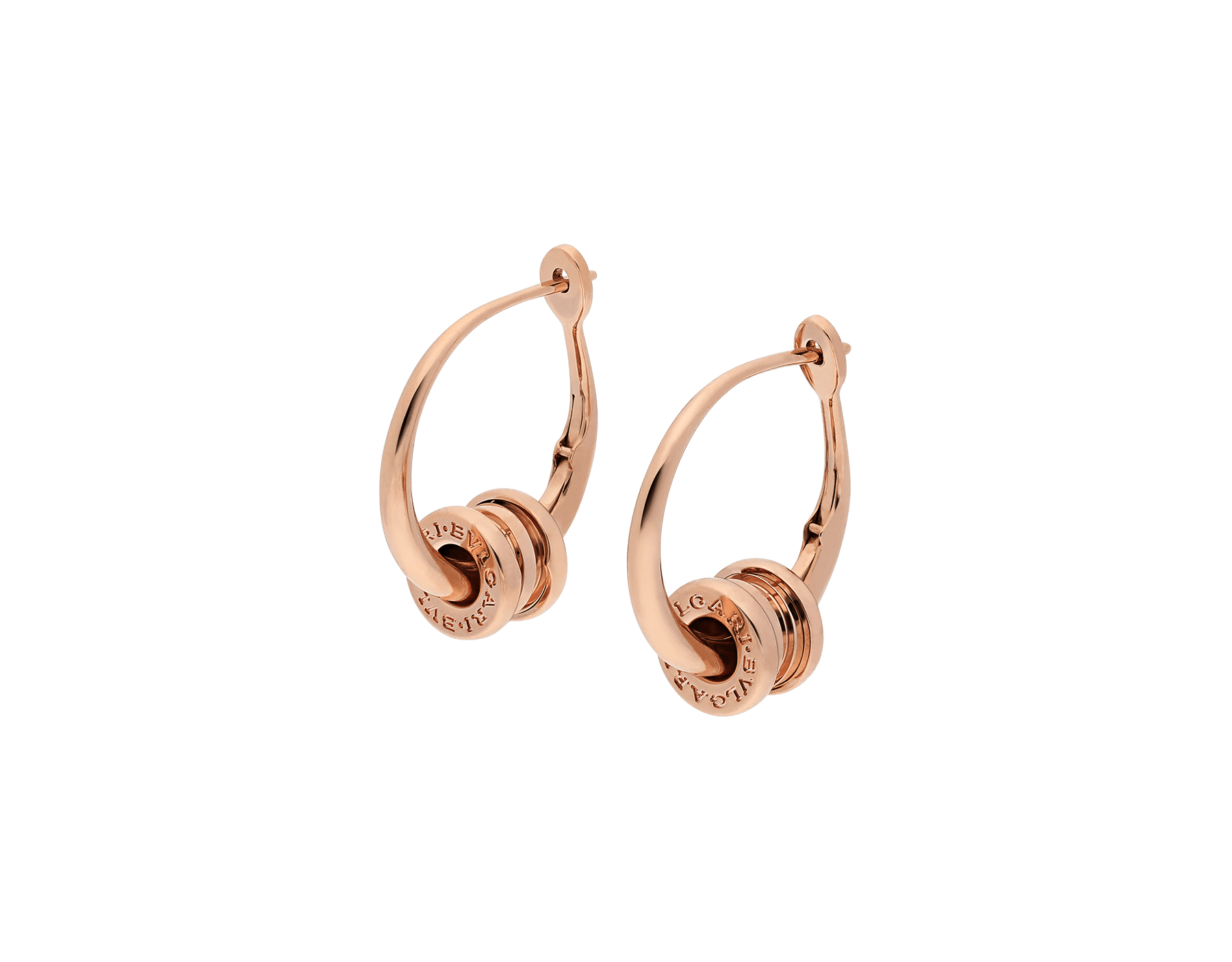 B.zero1 hoop earrings in 18 kt rose gold. 355007 image 2