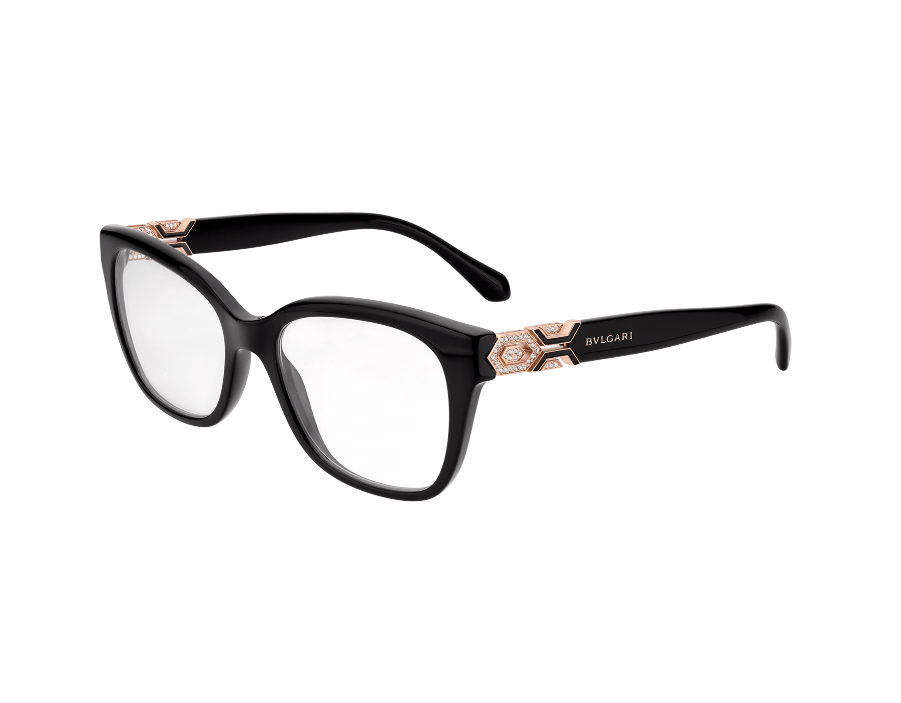 Serpenti rectangular acetate optical glasses with metal décor. 903766 image 1