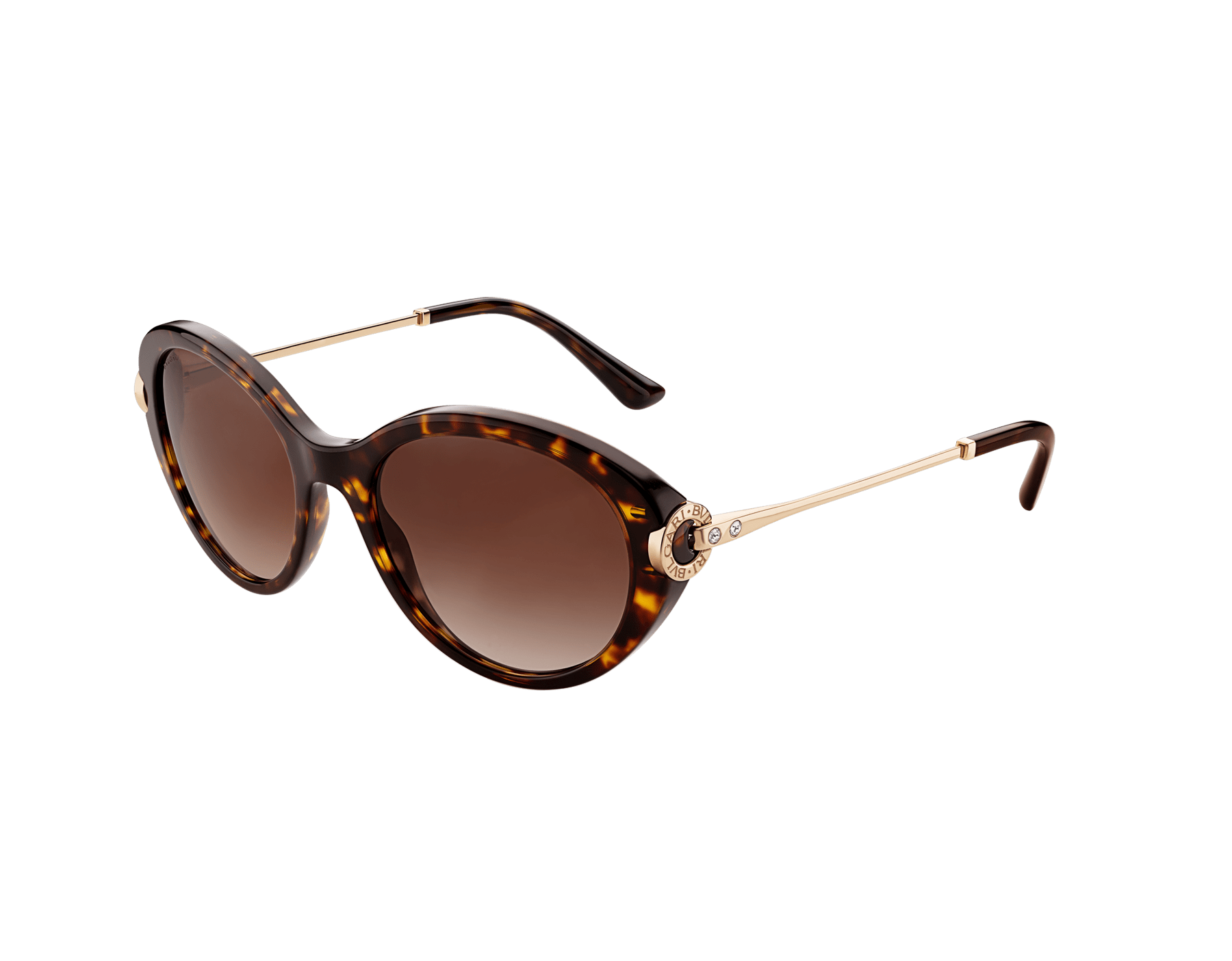 BVLGARI BVLGARI oval acetate sunglasses with metal décor and crystals. 903798 image 1