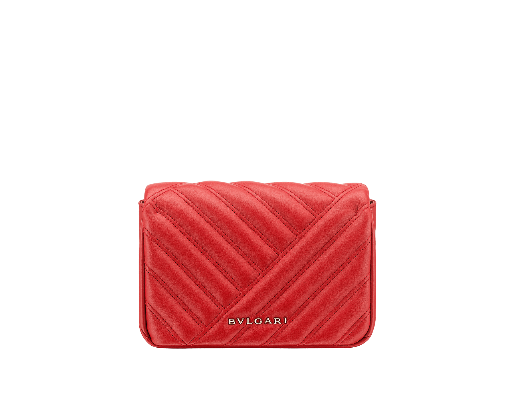 Serpenti Cabochon micro bag in soft matelassé carmine jasper calf leather, with a graphic motif. Brass light gold plated tempting snakehead closure in carmine jasper enamel and black onyx eyes. 288756 image 3